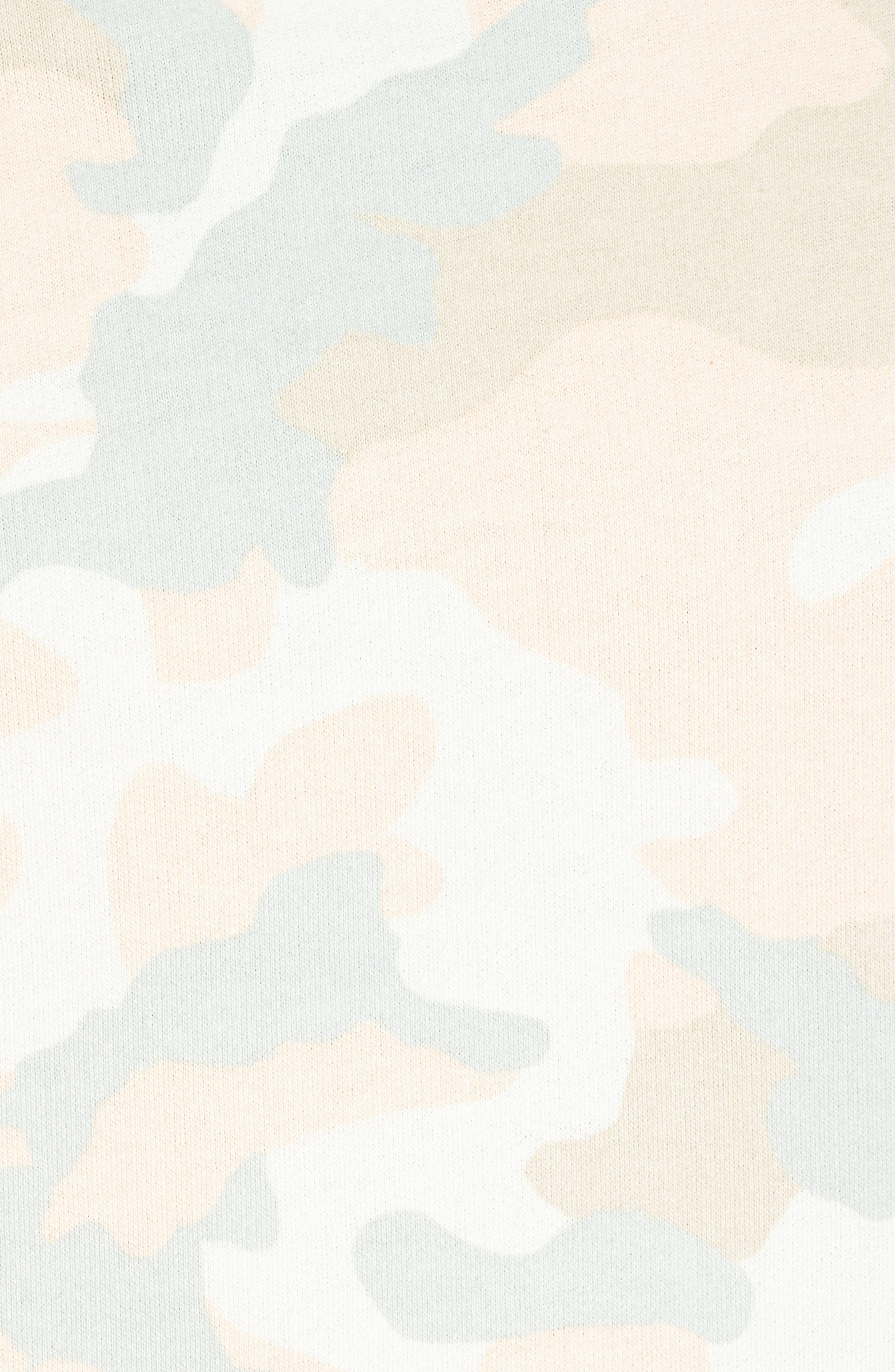 Mike Pastel Camo Fleece Hoodie,                             Alternate thumbnail 5, color,                             Pastel Woodland
