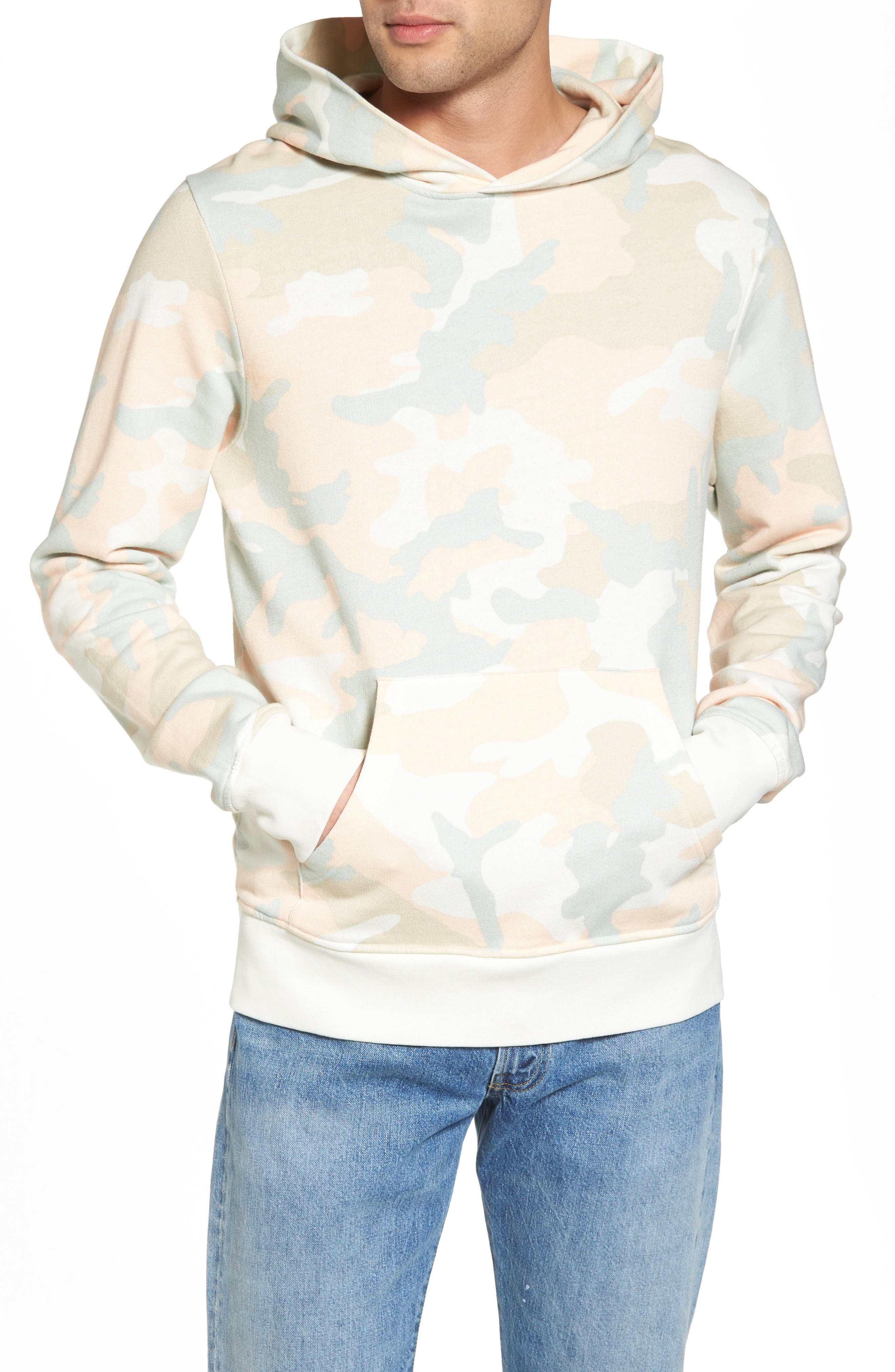 Mike Pastel Camo Fleece Hoodie,                         Main,                         color, Pastel Woodland