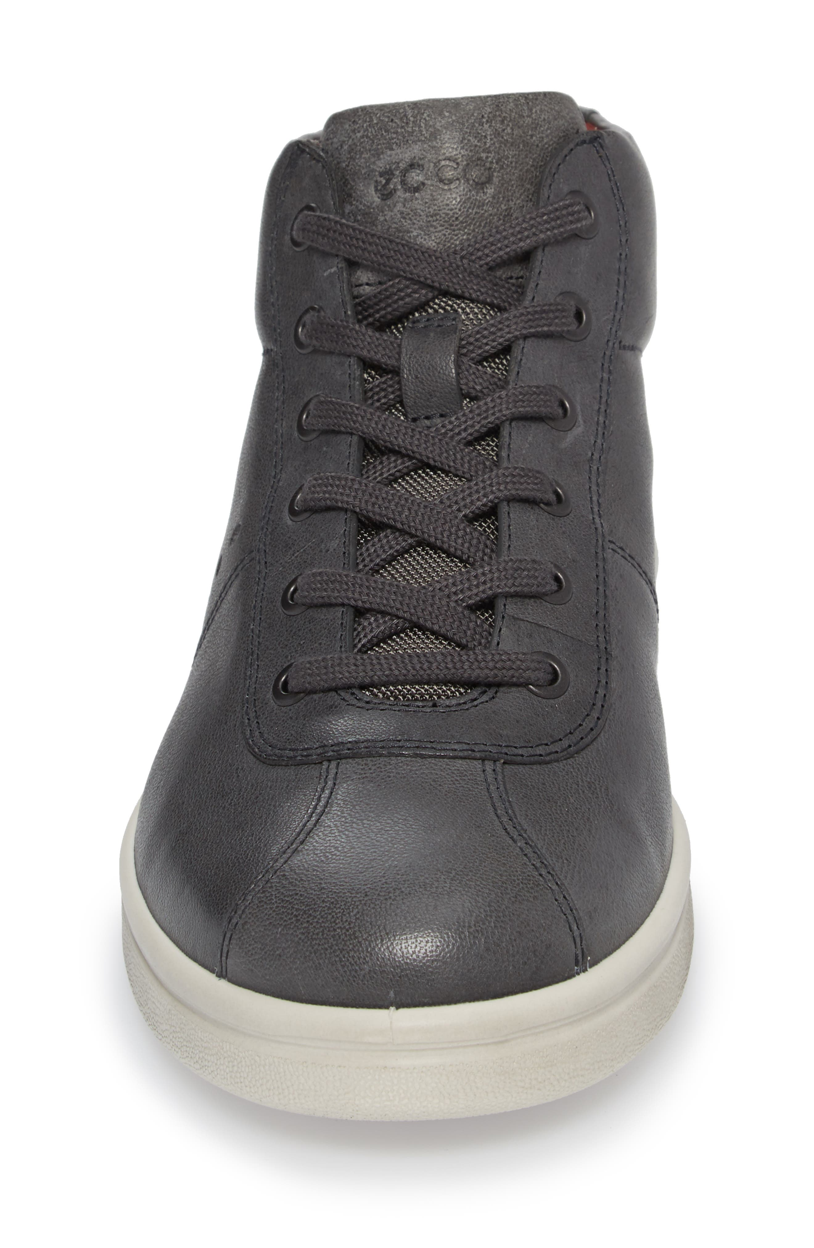 Kallum High Top Sneaker,                             Alternate thumbnail 4, color,                             Moonless Leather