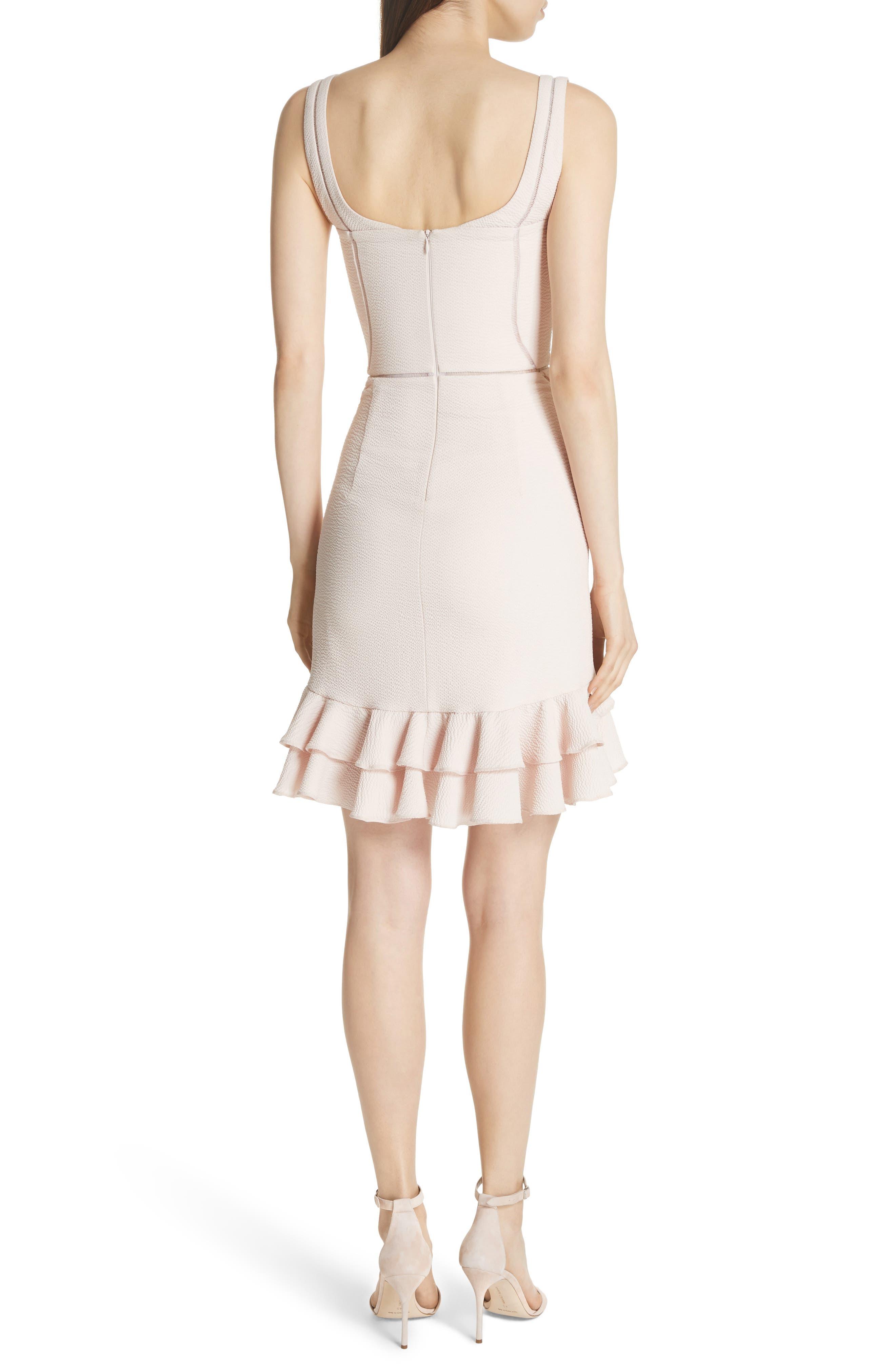 Seersucker Bustier Dress,                             Alternate thumbnail 2, color,                             Powder Pink