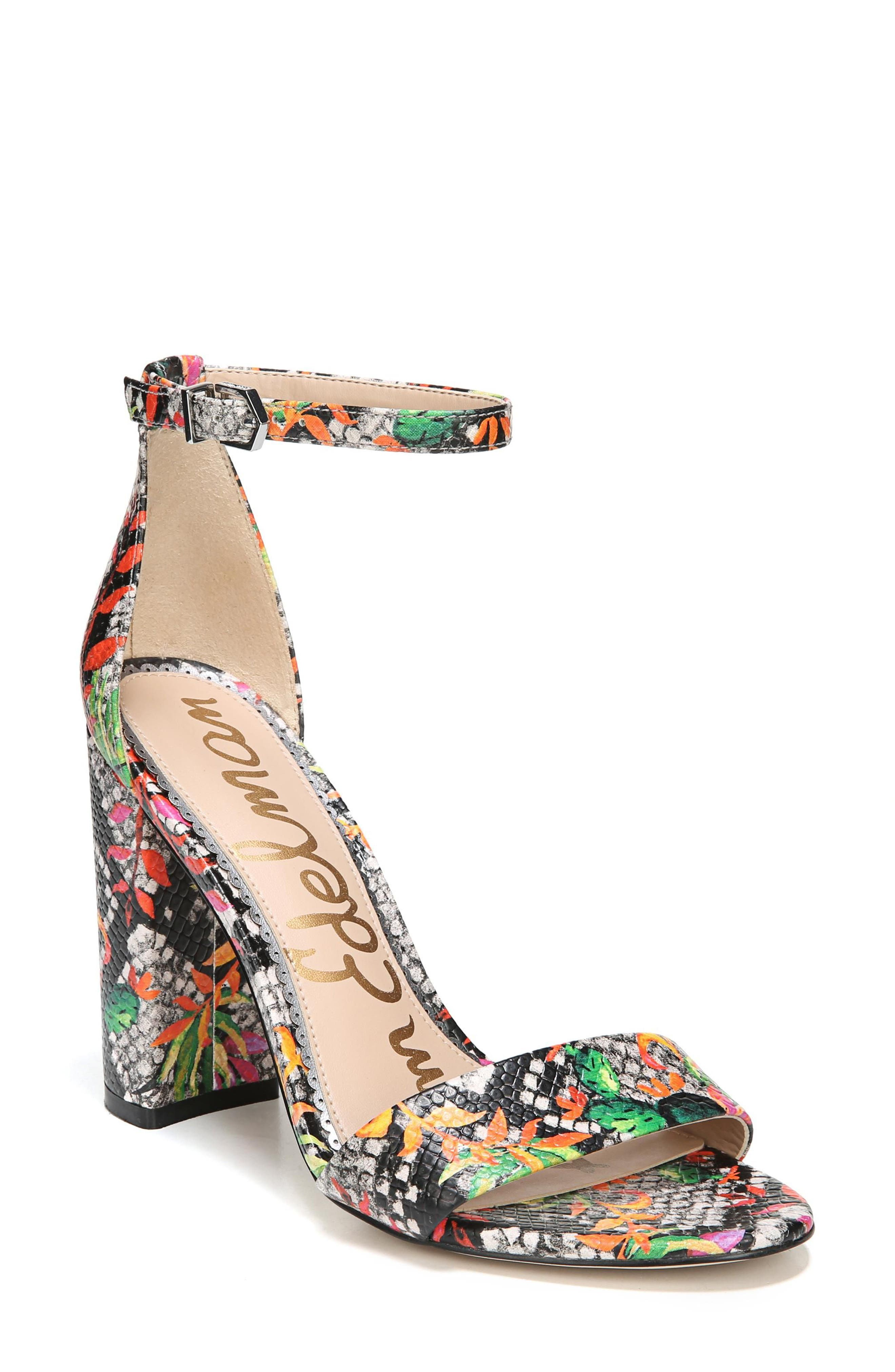 Yaro Ankle Strap Sandal,                         Main,                         color, Bright Multi Print