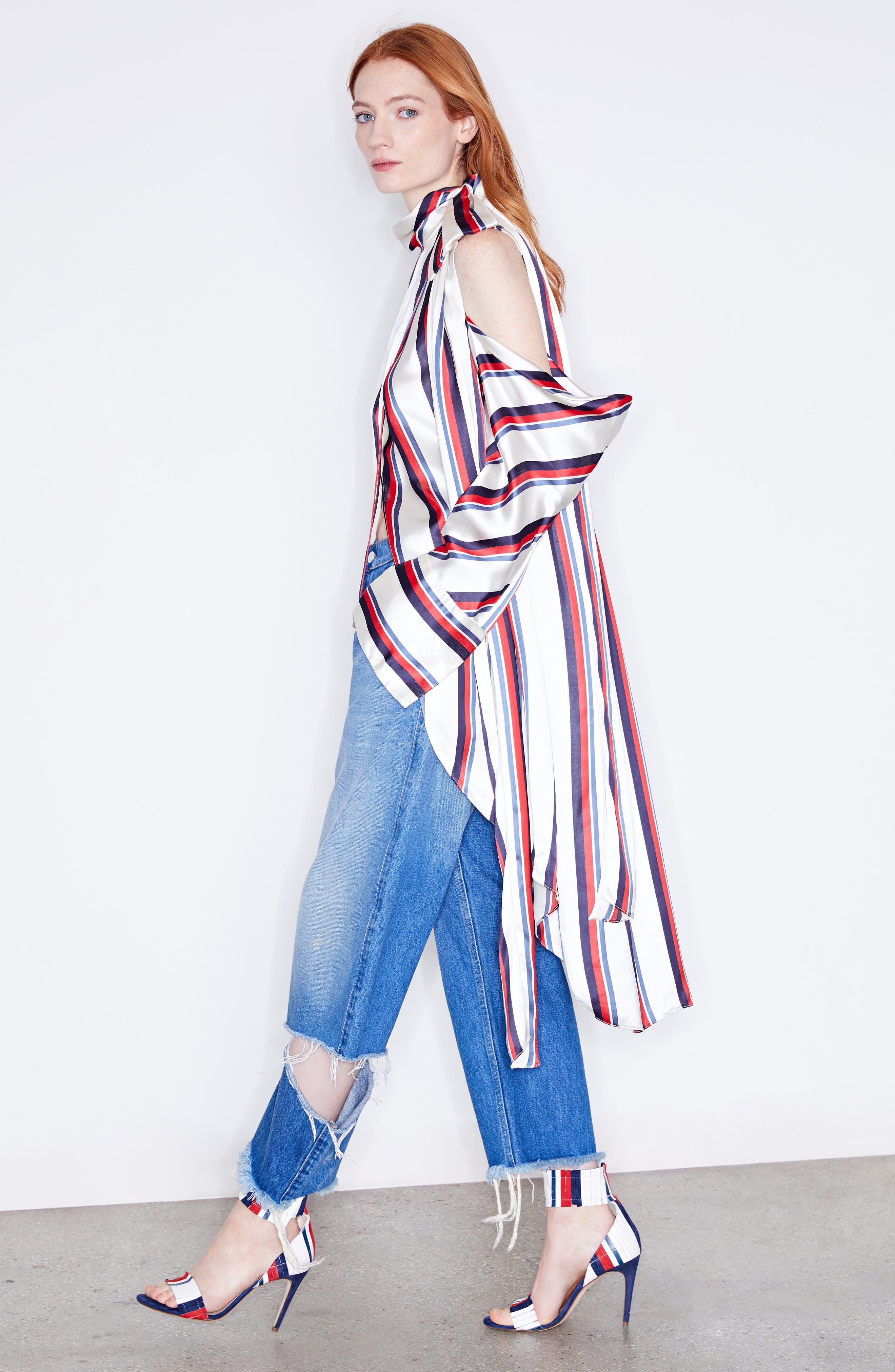 Alternate Image 2  - MONSE Stripe Off the Shoulder Blouse