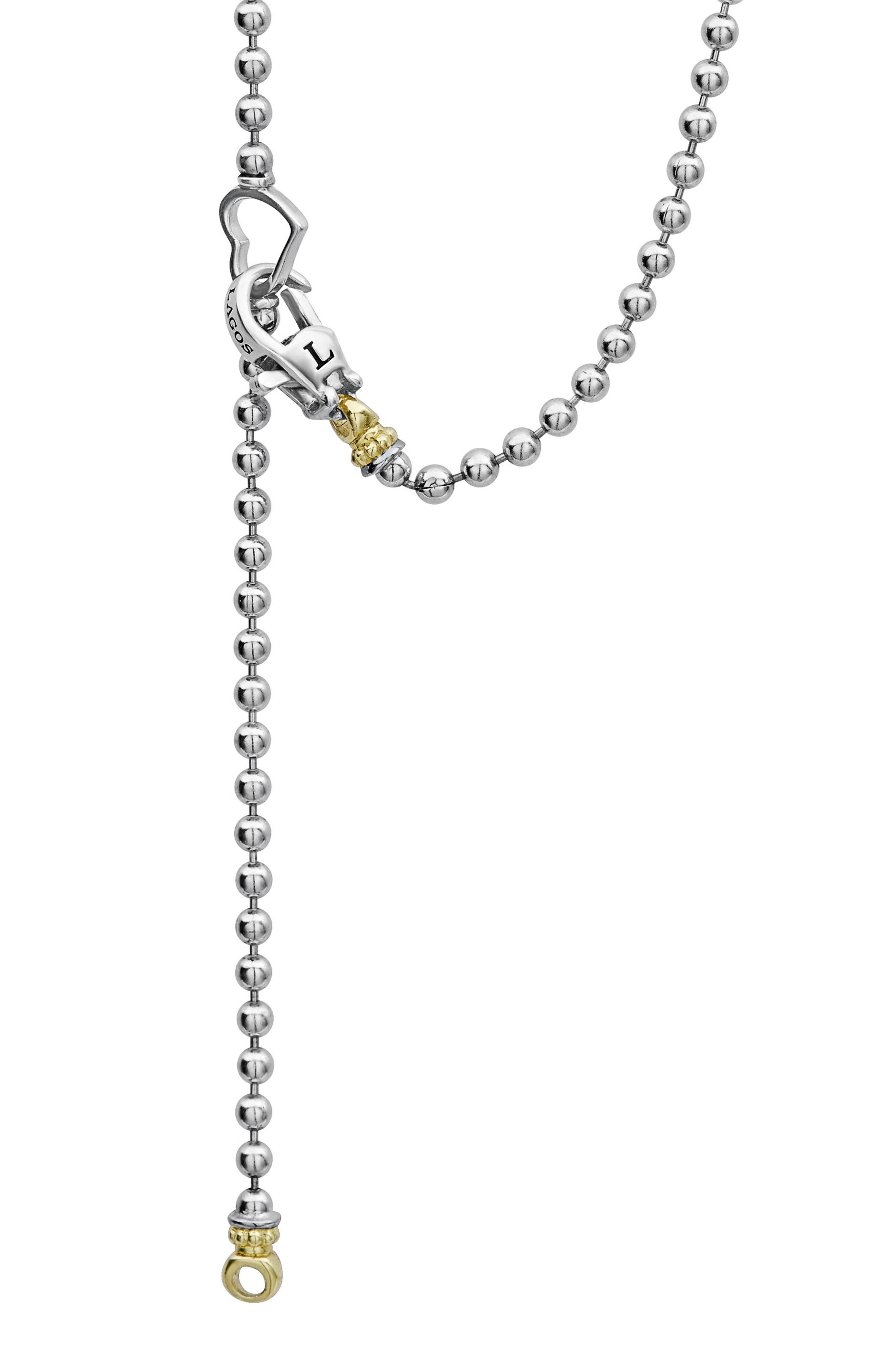 Beloved Diamond Pavé Heart Chain Necklace,                             Alternate thumbnail 3, color,                             Silver/ Diamond
