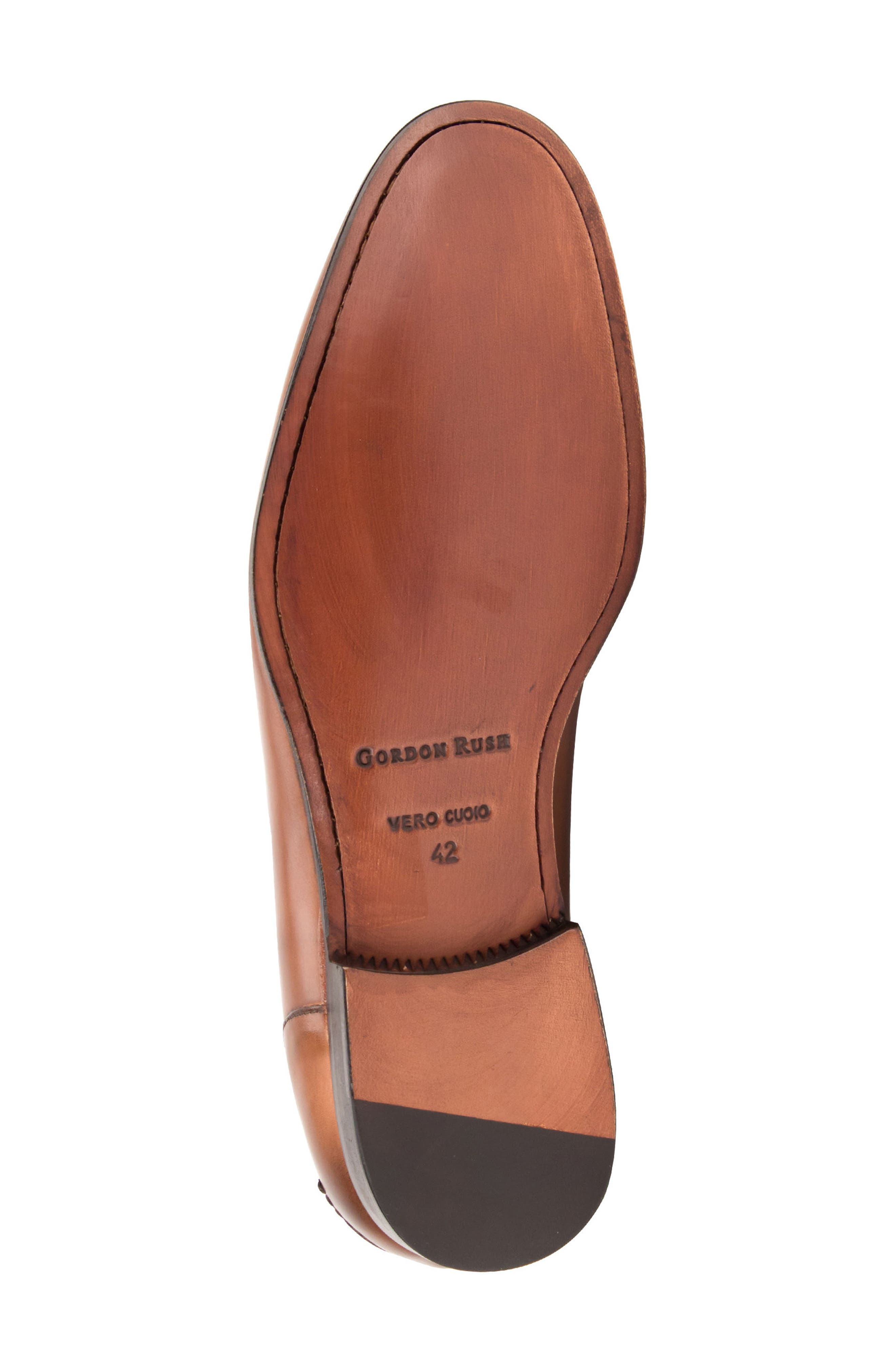 Coleman Apron Toe Penny Loafer,                             Alternate thumbnail 6, color,                             Tan Leather