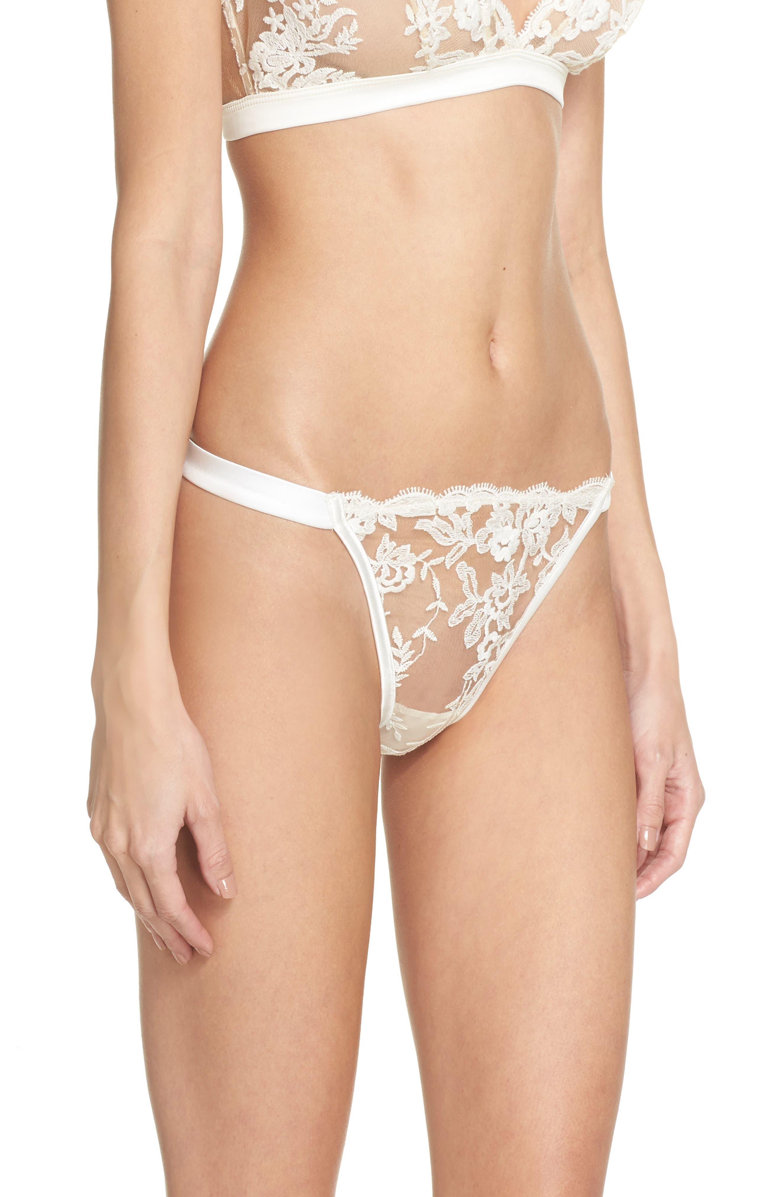 Rosie String Bikini,                             Alternate thumbnail 3, color,                             Moon Ivory