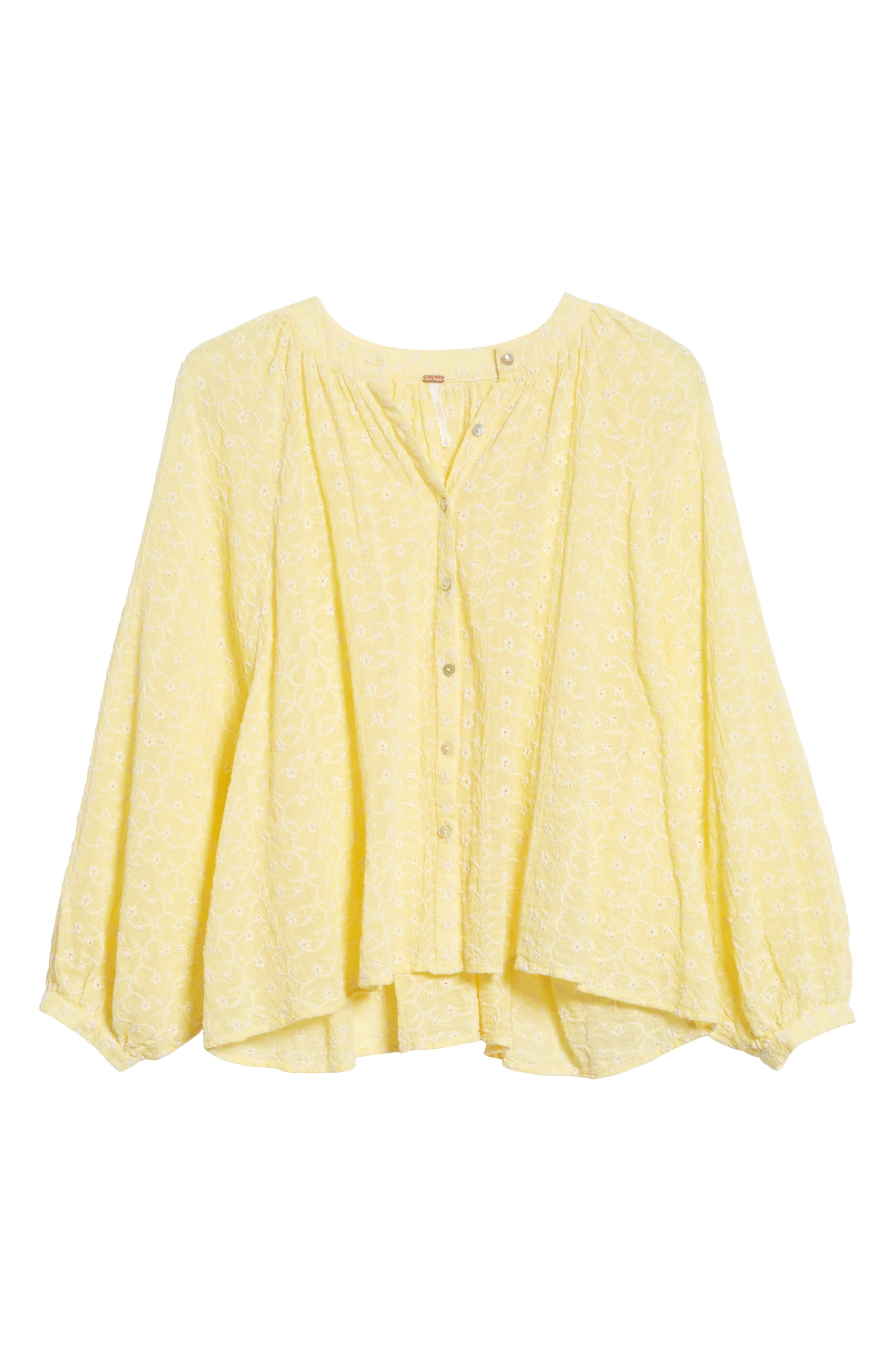 Down from the Clouds Peasant Top,                             Alternate thumbnail 7, color,                             Gold