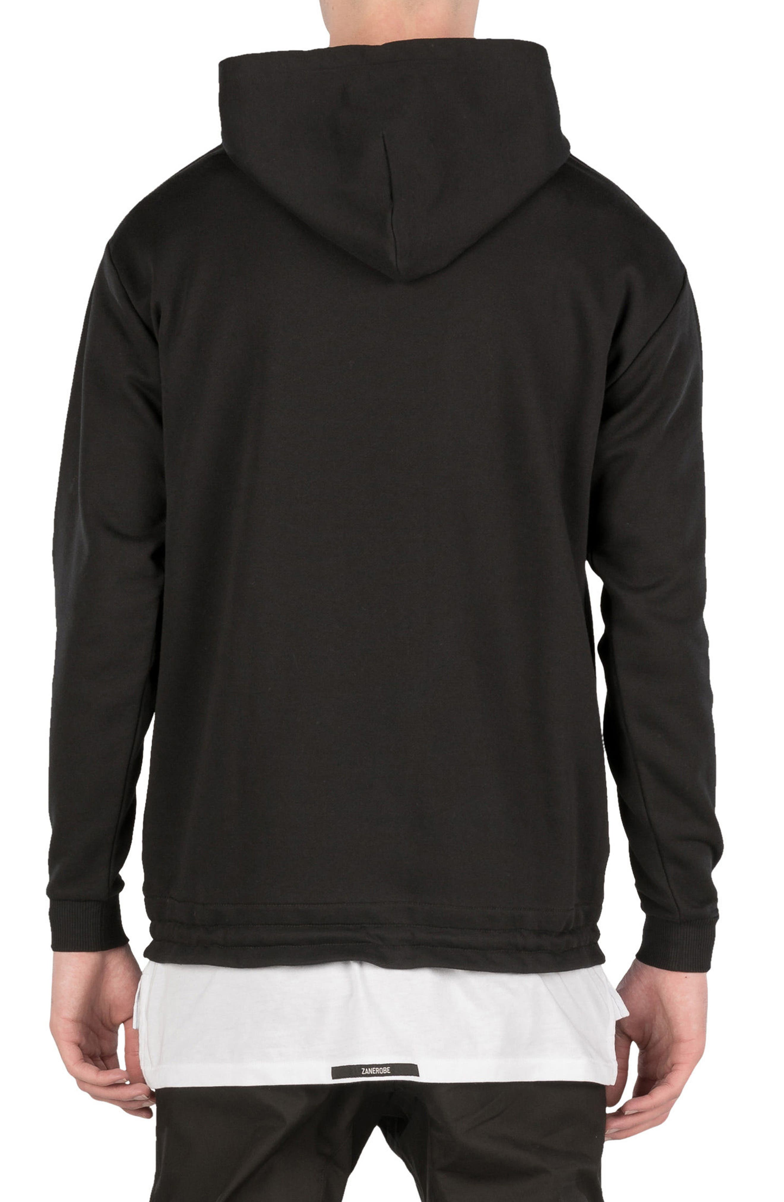 Teamwear Box Hoodie Sweatshirt,                             Alternate thumbnail 2, color,                             Black