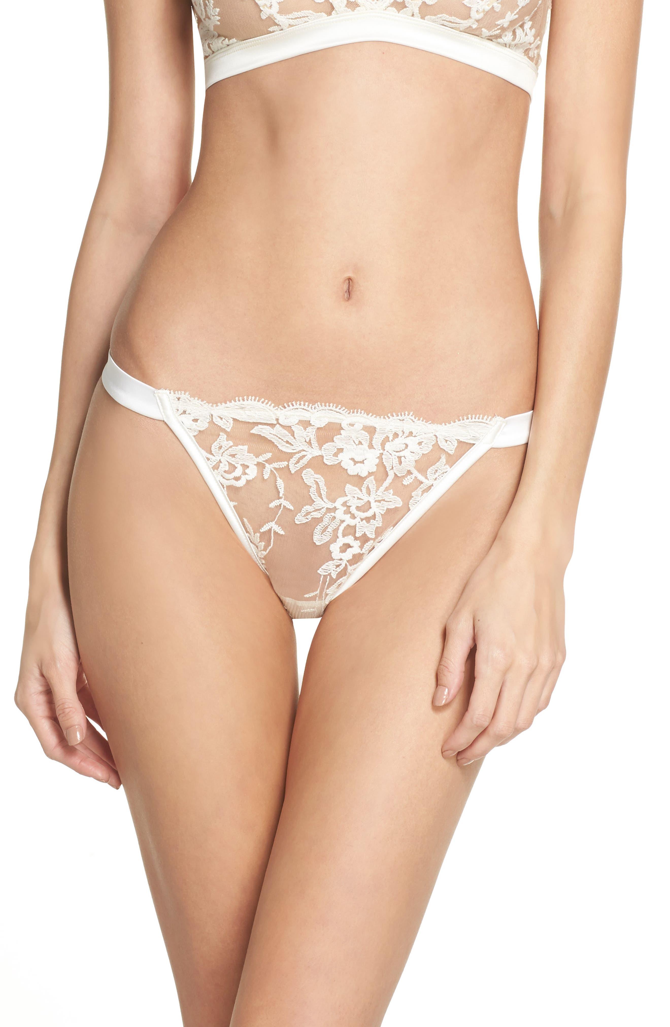 Rosie String Bikini,                             Main thumbnail 1, color,                             Moon Ivory