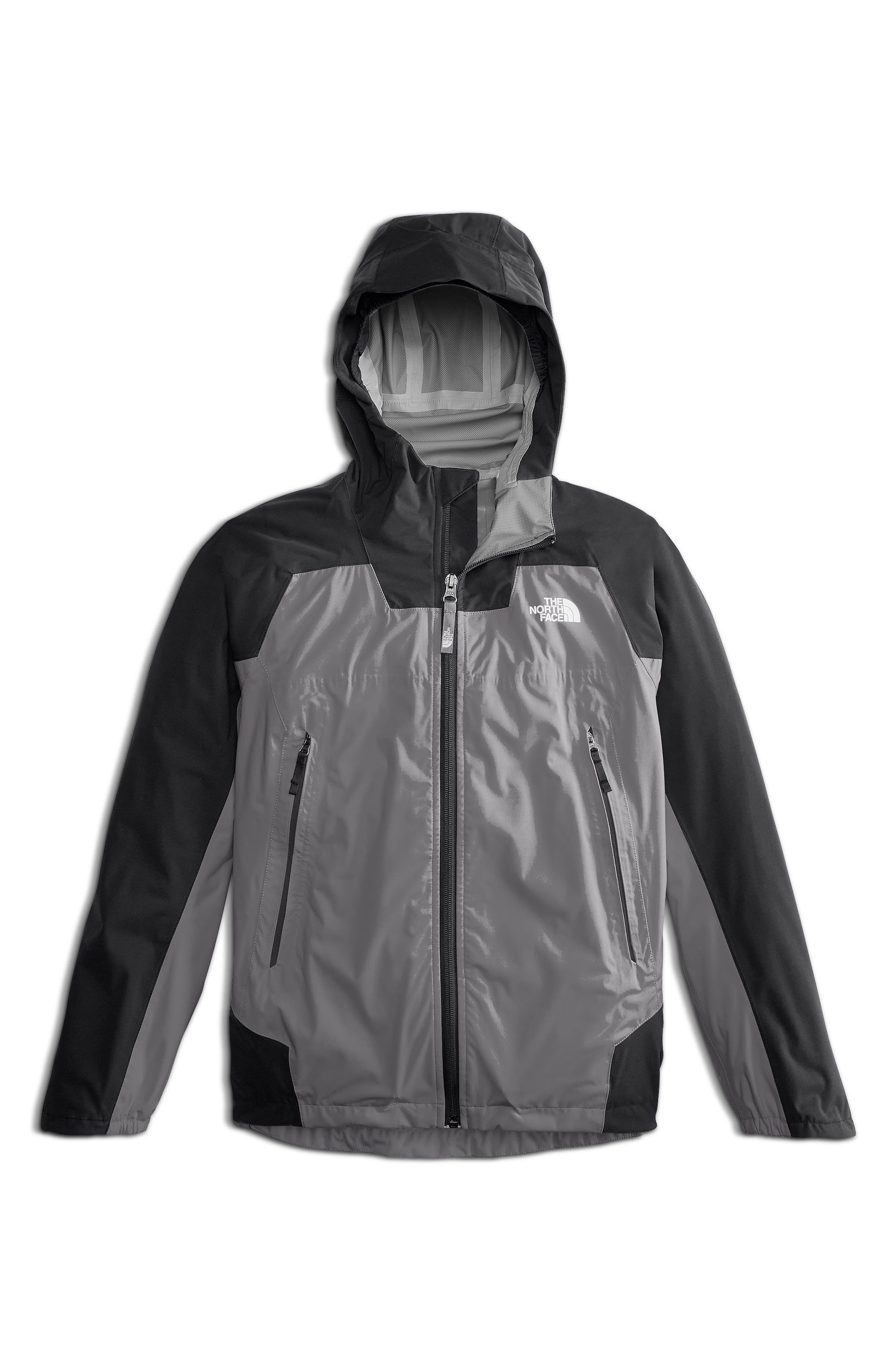 Allproof Stretch Hooded Rain Jacket,                             Main thumbnail 1, color,                             Mid Grey