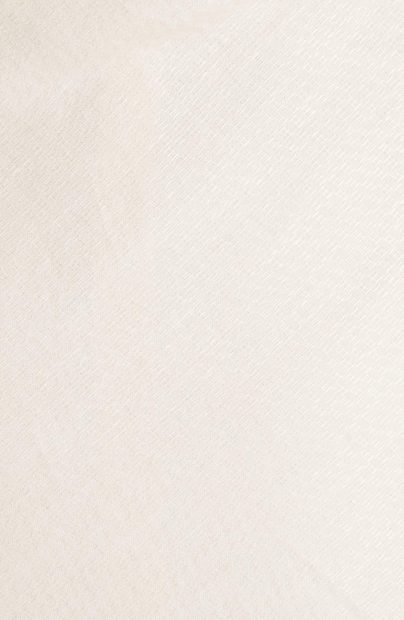 La Robe Limao Linen & Cotton Trumpet Dress,                             Alternate thumbnail 6, color,                             Beige