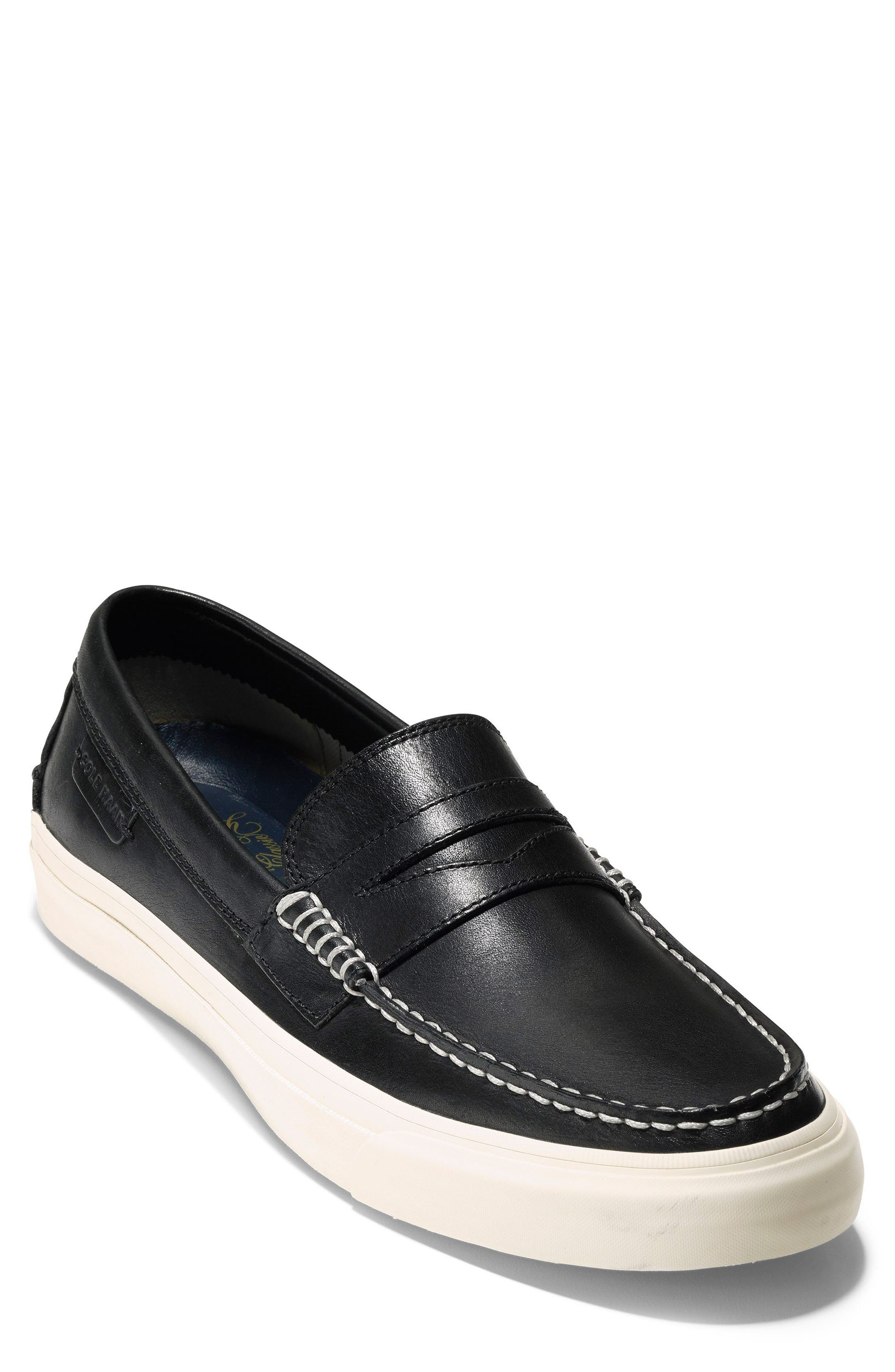 Pinch Weekend LX Penny Loafer,                             Main thumbnail 1, color,                             Black/ White