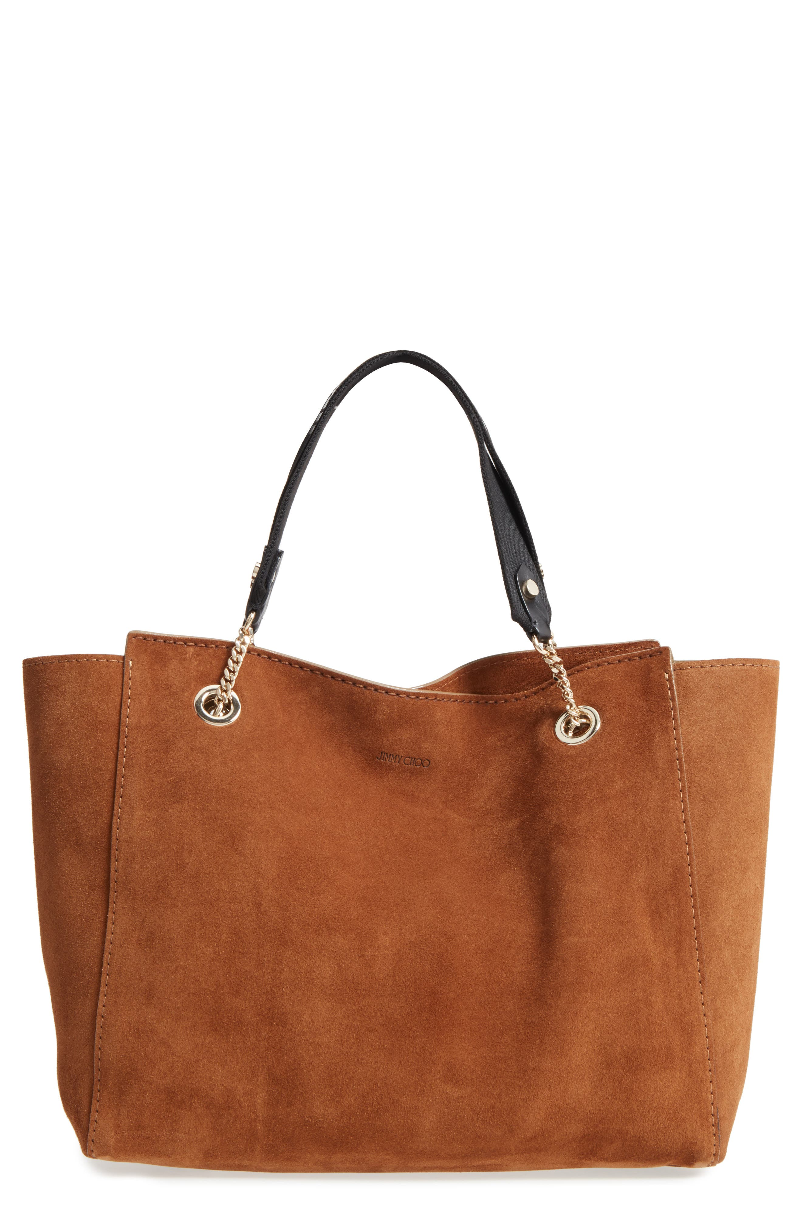 Flo Suede Tote,                             Main thumbnail 1, color,                             Cacao