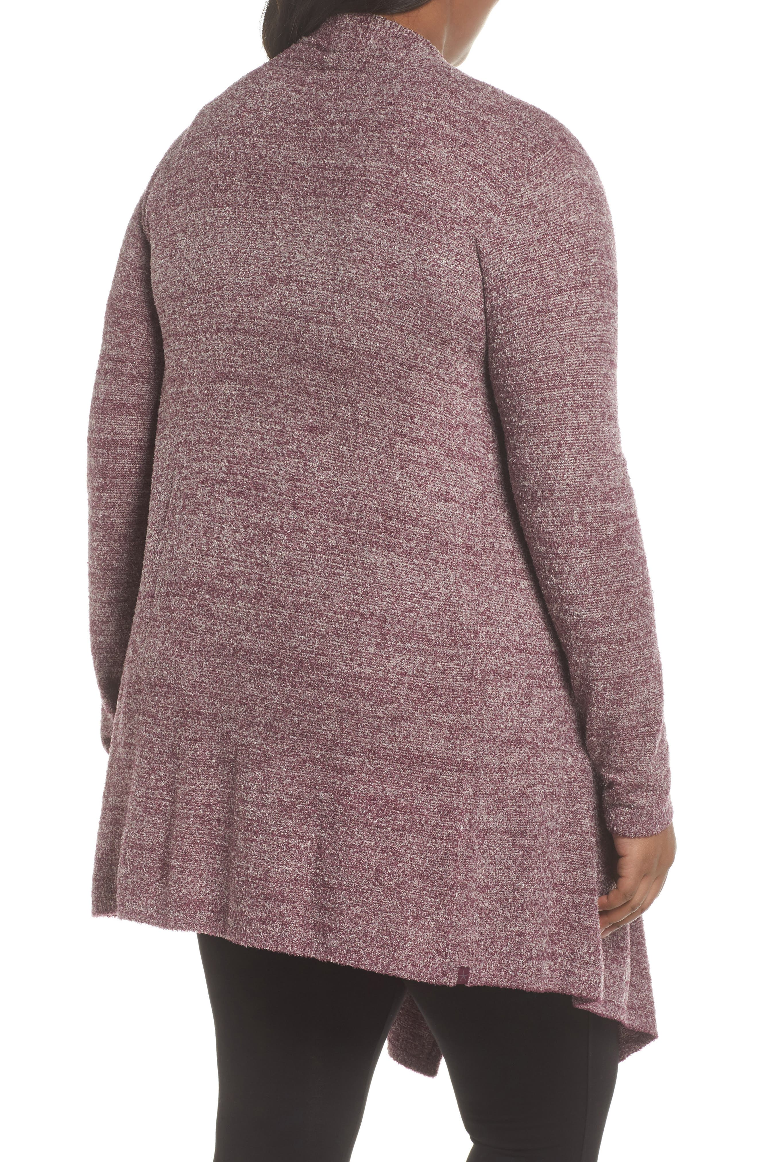 CozyChic Lite<sup>®</sup> Calypso Wrap Cardigan,                             Alternate thumbnail 2, color,                             Burgundy/ Stone