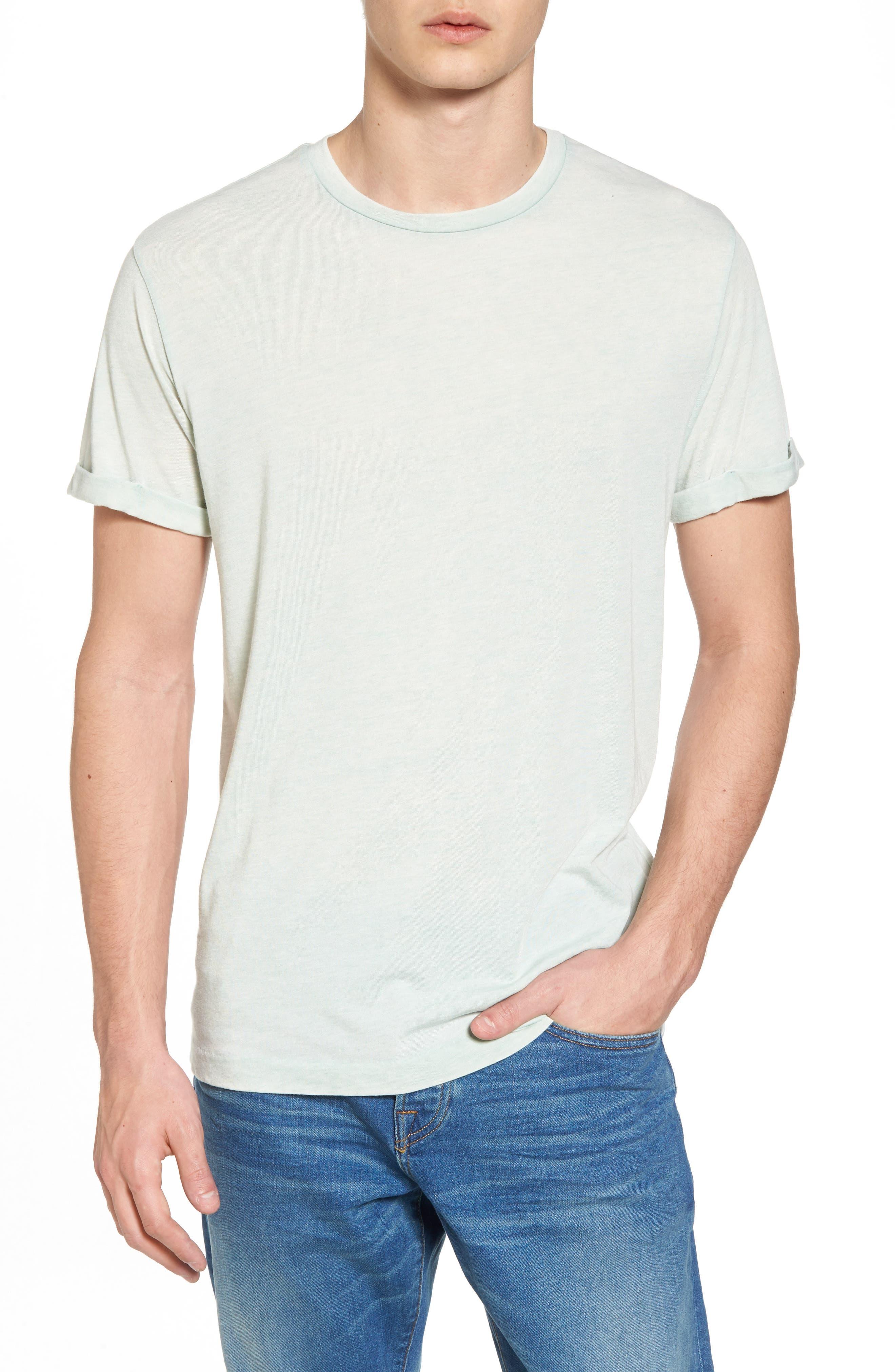 Ausbrenner T-Shirt,                         Main,                         color, Seafoam Green Melange