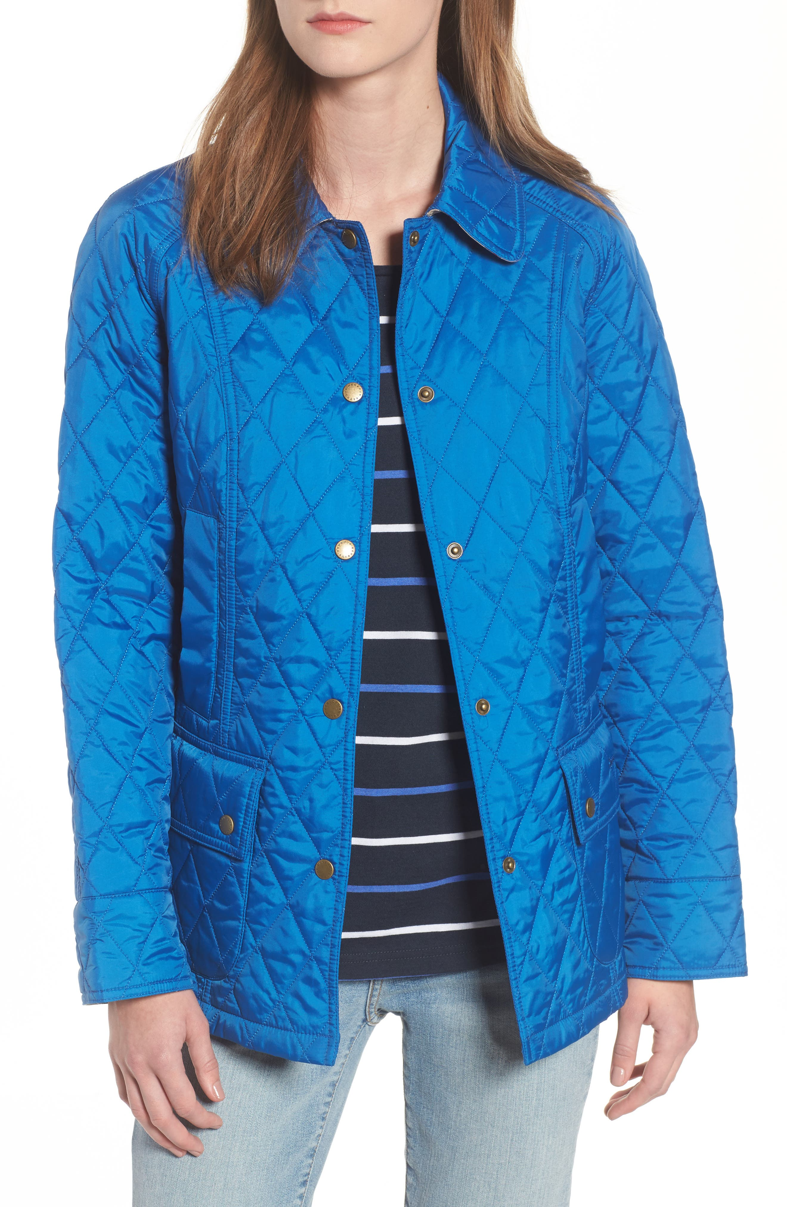 'Beadnell - Summer' Quilted Jacket,                         Main,                         color, Victoria Blue