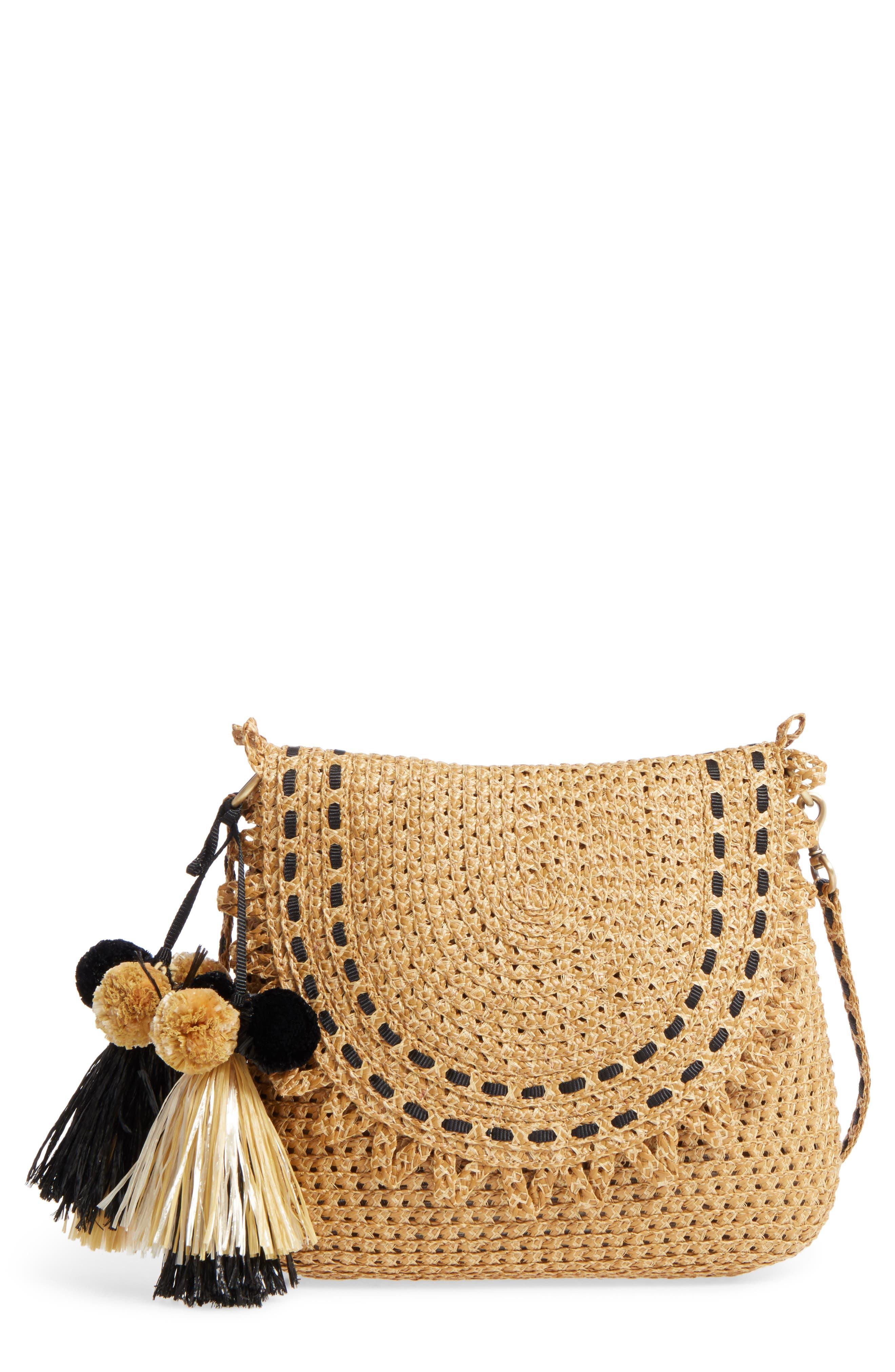 Brigitte Squishee<sup>®</sup> Shoulder Bag,                         Main,                         color, Natural/ Black