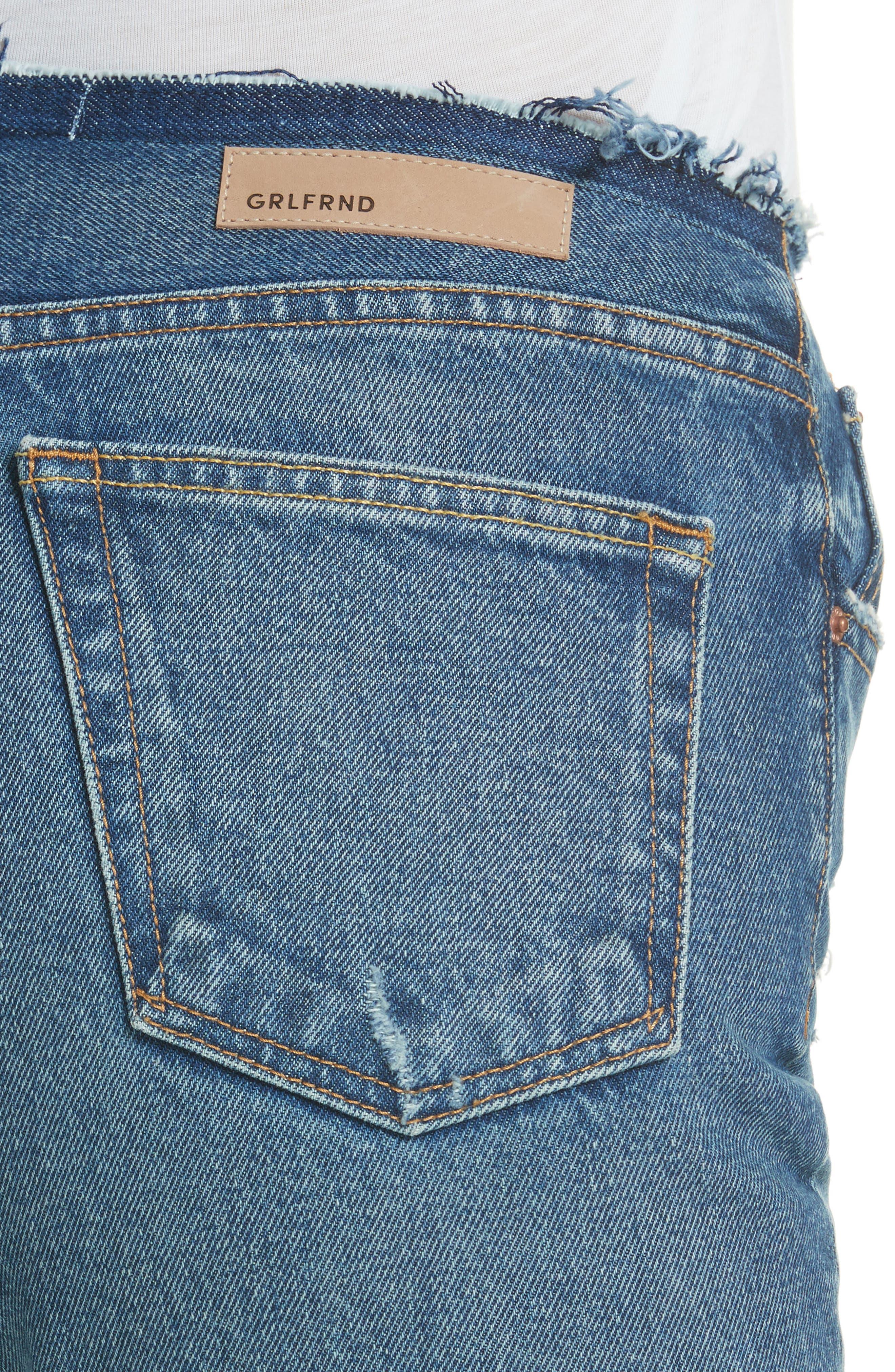 Shannan Step Hem Crop Jeans,                             Alternate thumbnail 4, color,                             Show Down G611