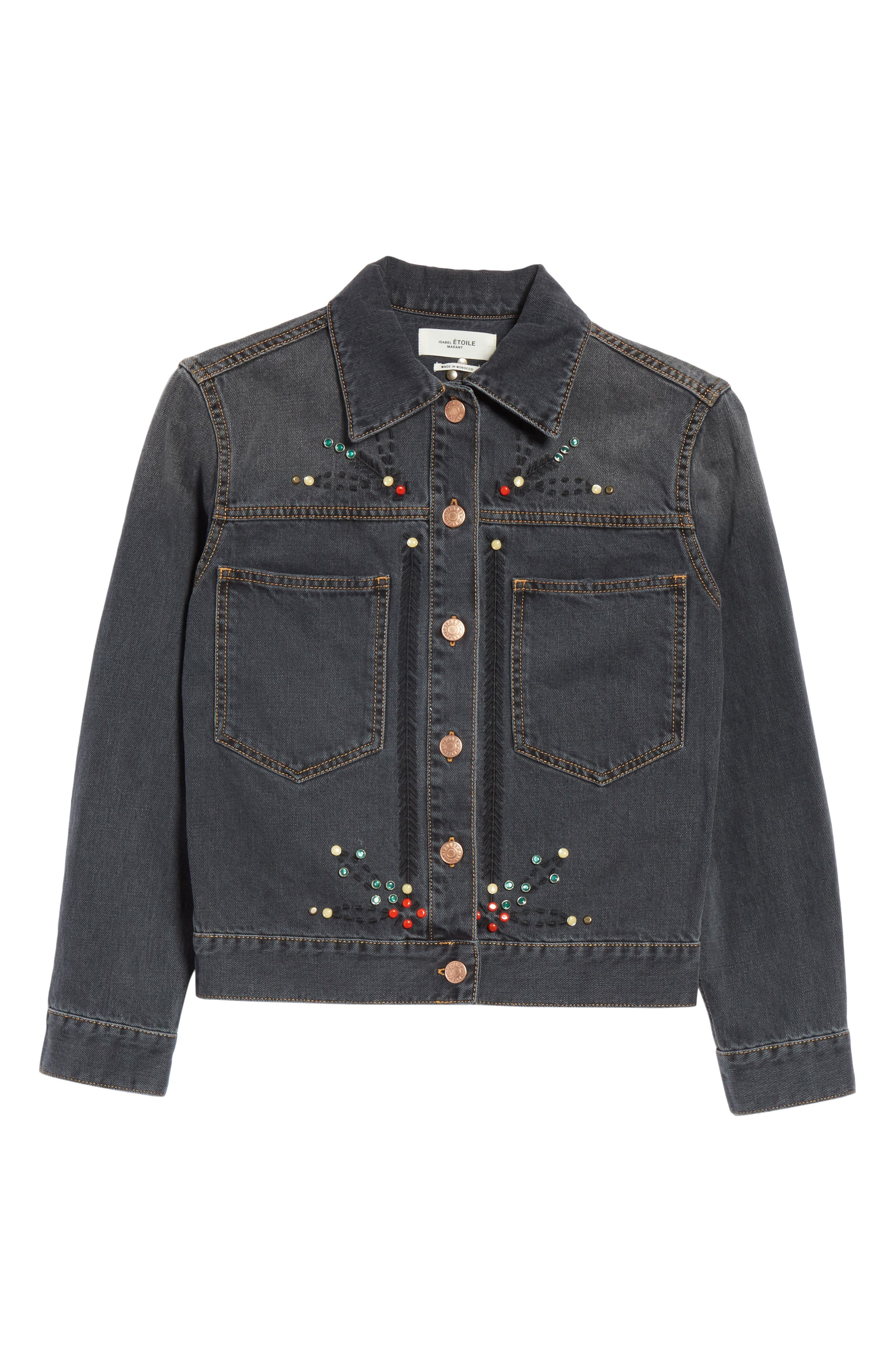 Alternate Image 6  - Isabel Marant Étoile Cabella Embellished Denim Jacket