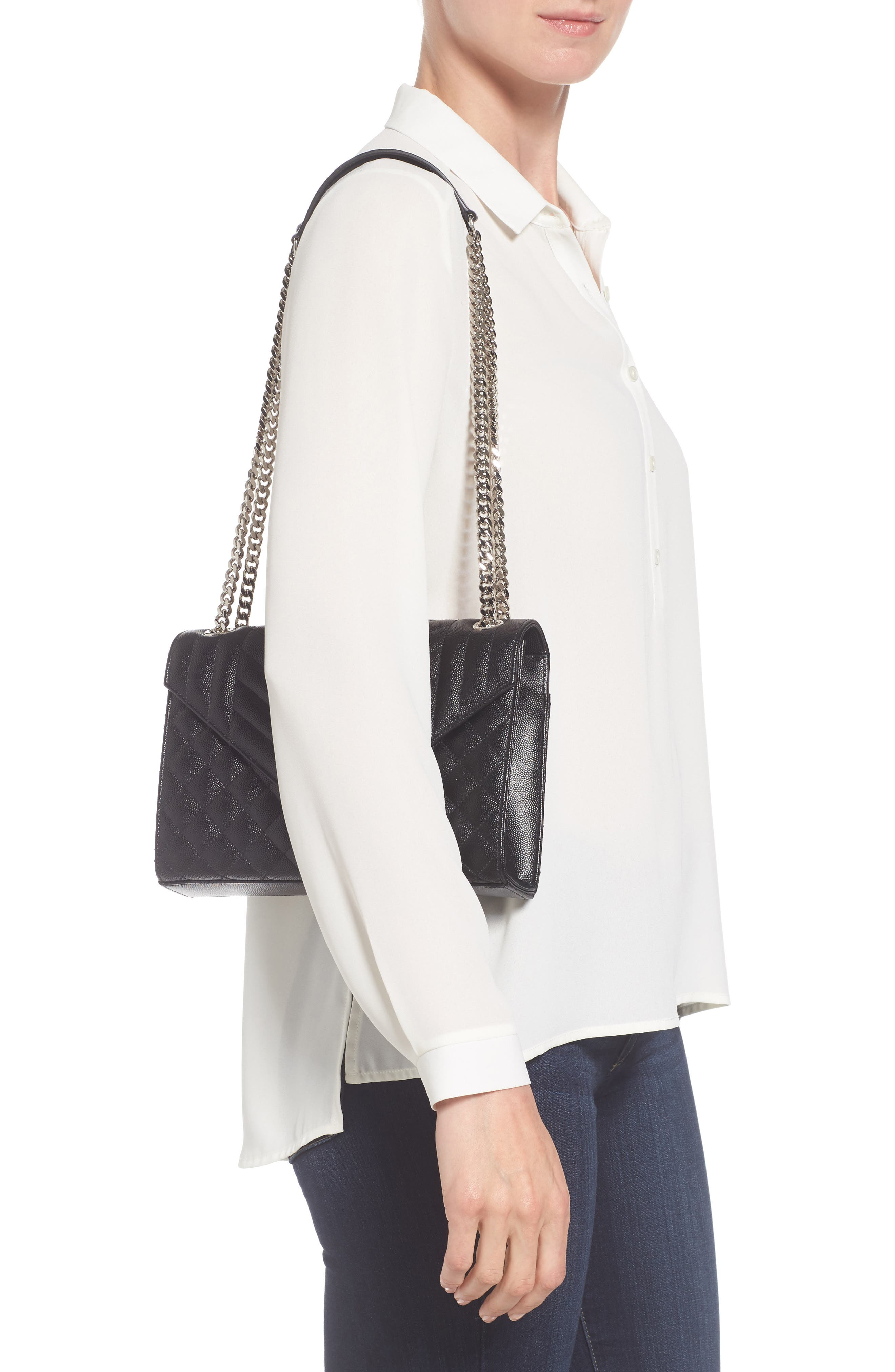 Alternate Image 2  - Saint Laurent Medium Monogram Quilted Leather Shoulder Bag