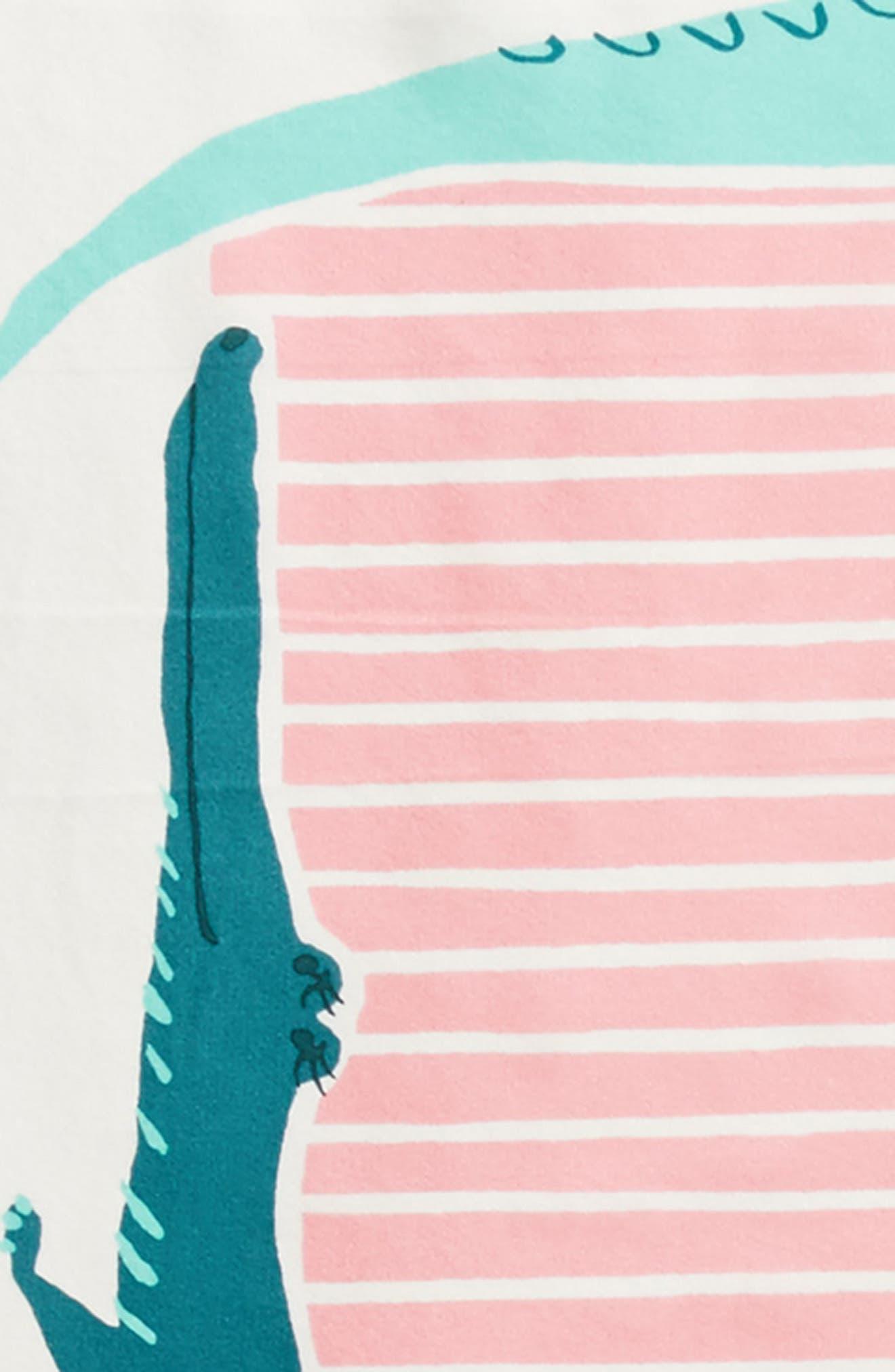 alligator square silk scarf,                             Alternate thumbnail 4, color,                             Cream