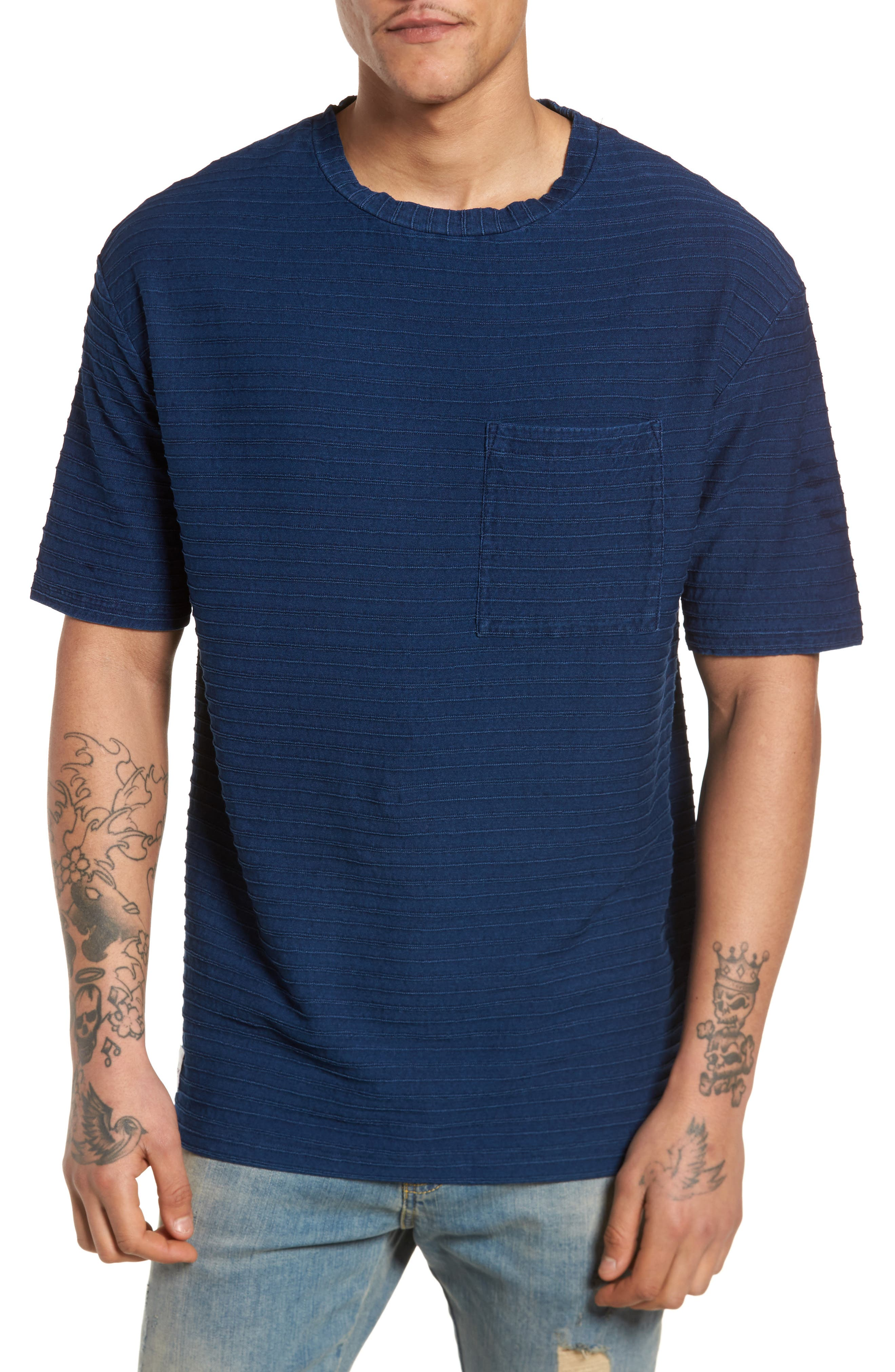 Tidal T-Shirt,                         Main,                         color, Indigo