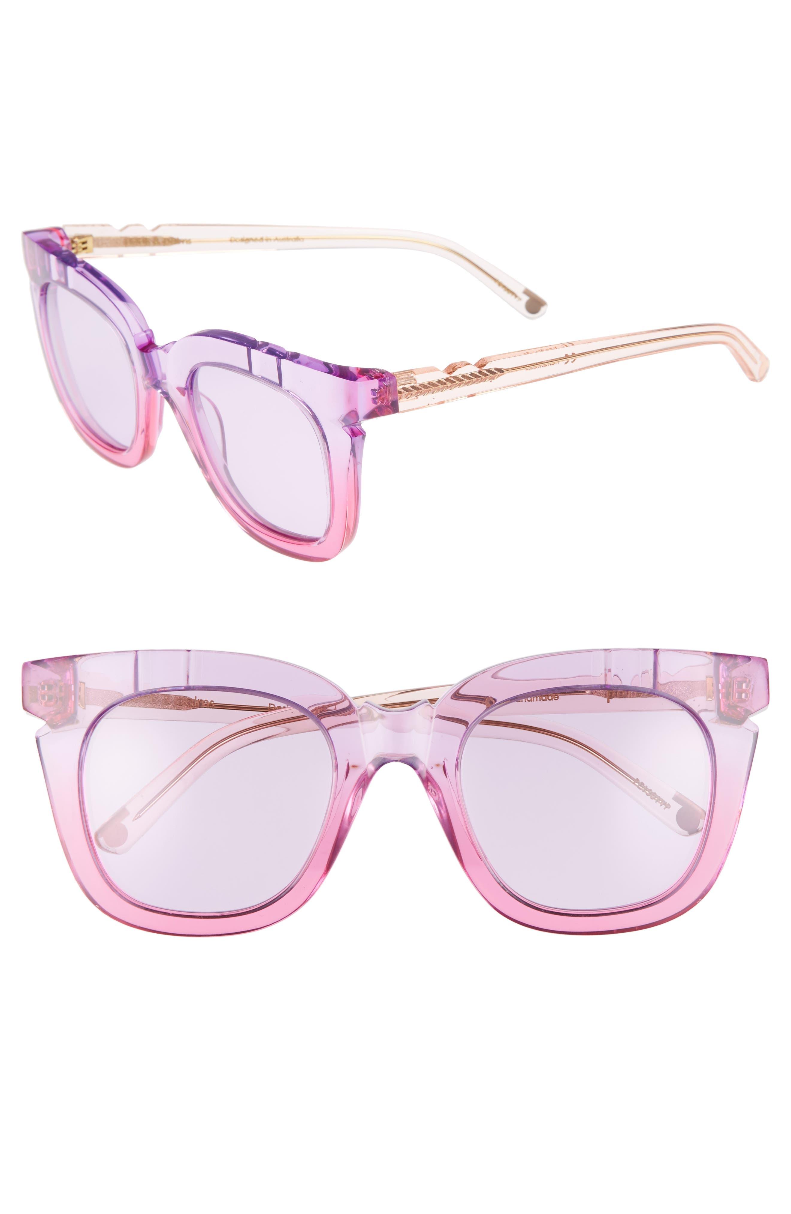 Pools & Palms 50mm Sunglasses,                         Main,                         color, Fruit Tingle Acetate/ Violet