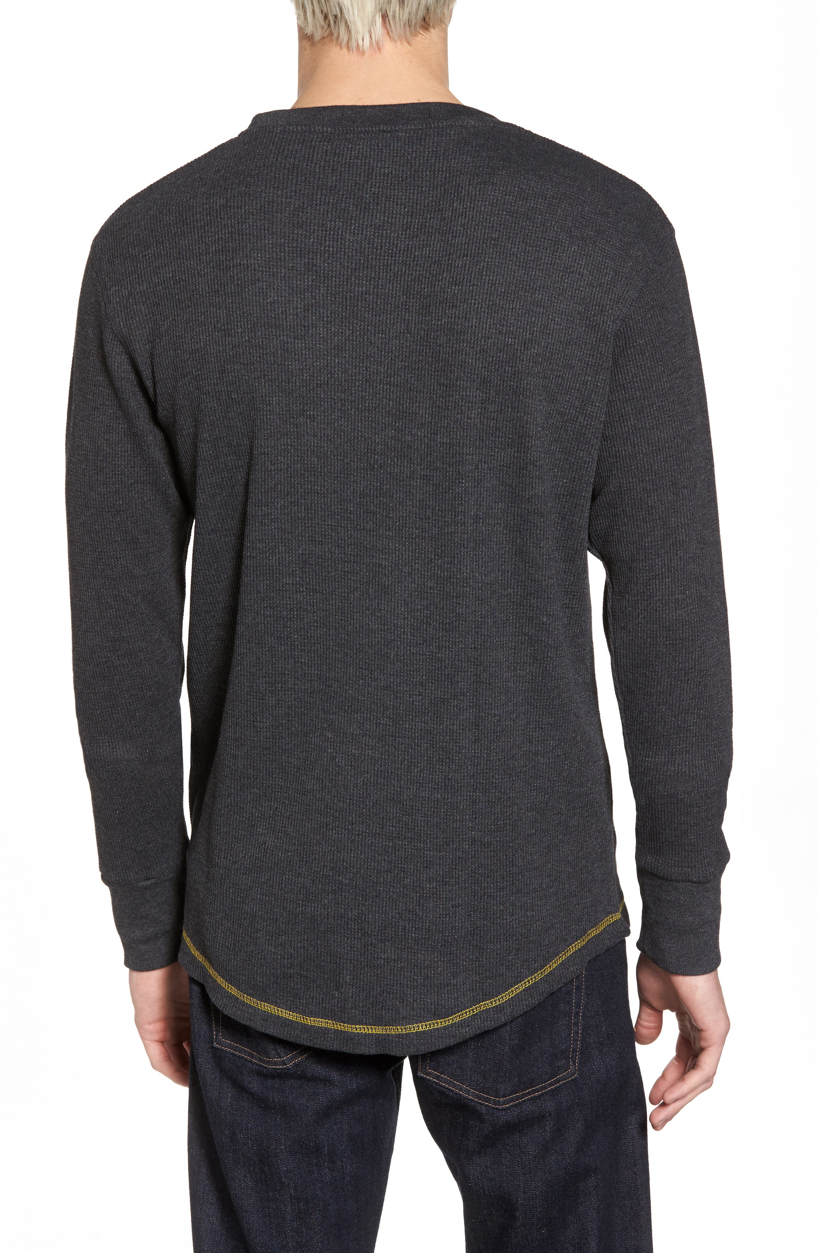 Boston Bruins Embroidered Long Sleeve Thermal Shirt,                             Alternate thumbnail 2, color,                             Black