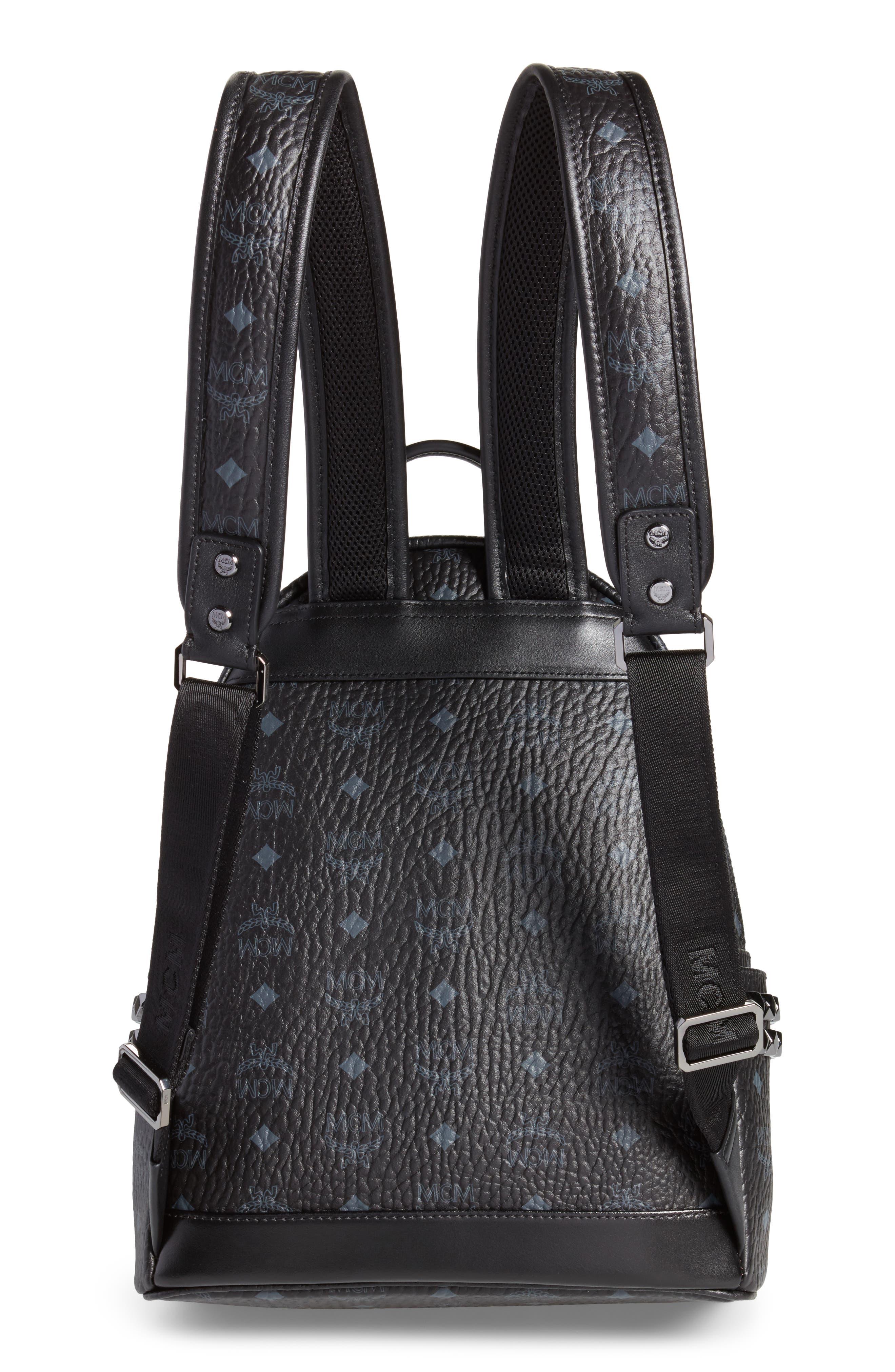 Small Stark Side Stud Backpack,                             Alternate thumbnail 3, color,                             Black
