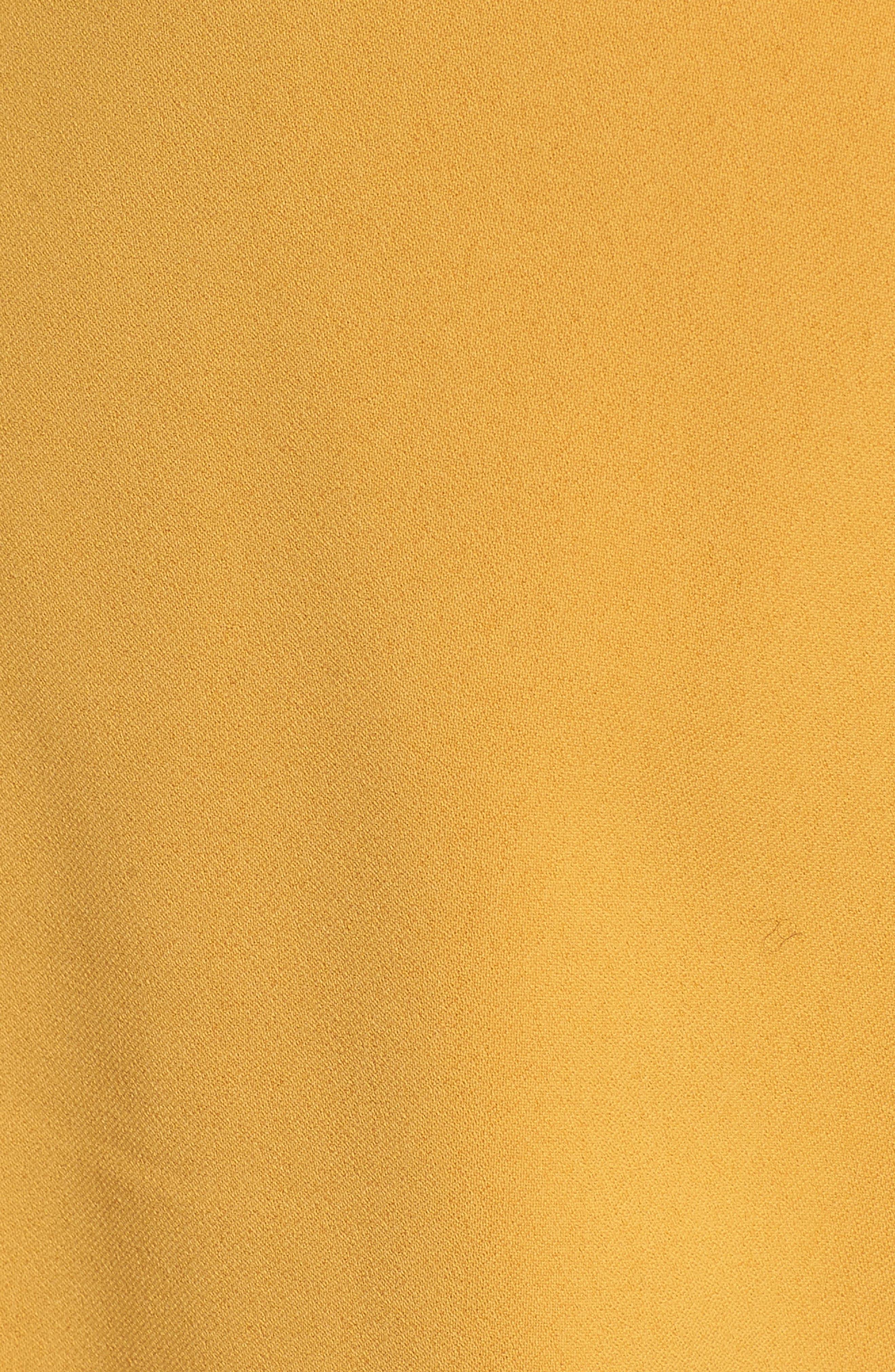 Crop Tie Waist Pants,                             Alternate thumbnail 7, color,                             Marigold