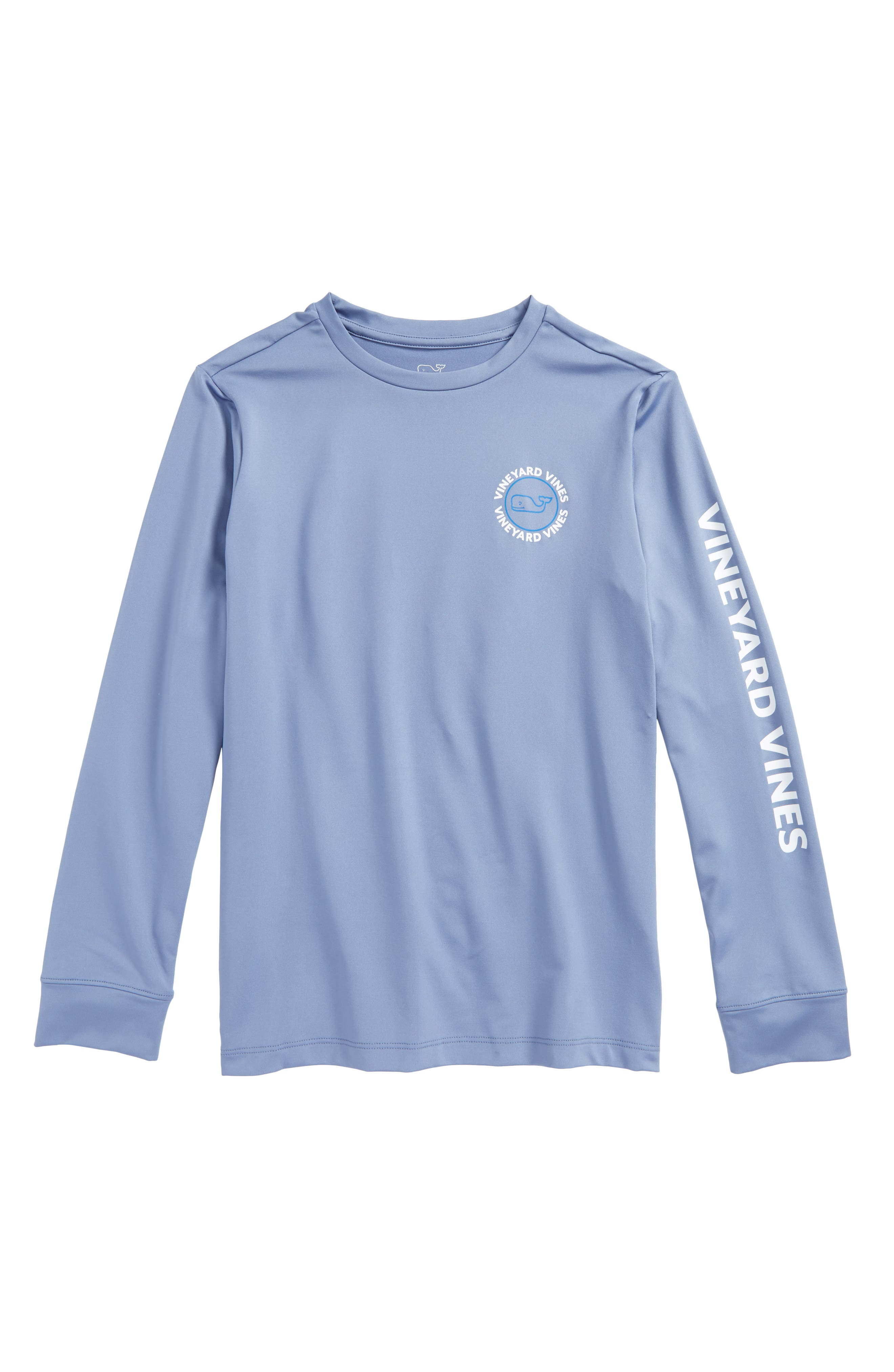 Whale Dot Performance T-Shirt,                         Main,                         color, Summer Evening
