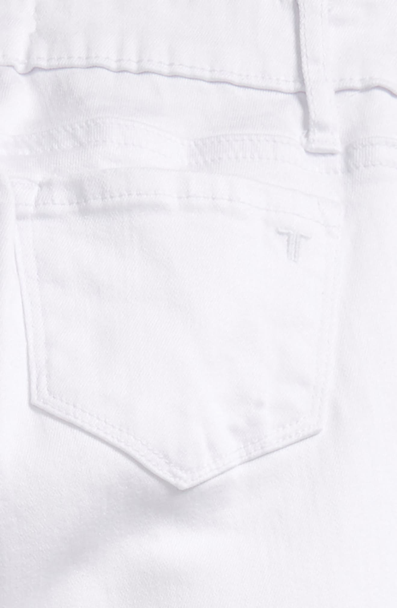Deconstructed Skinny Jeans,                             Alternate thumbnail 3, color,                             White