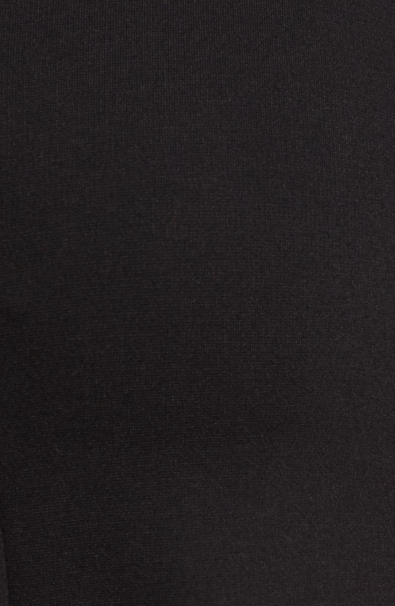 Natalia Maternity Dress,                             Alternate thumbnail 5, color,                             Caviar Black