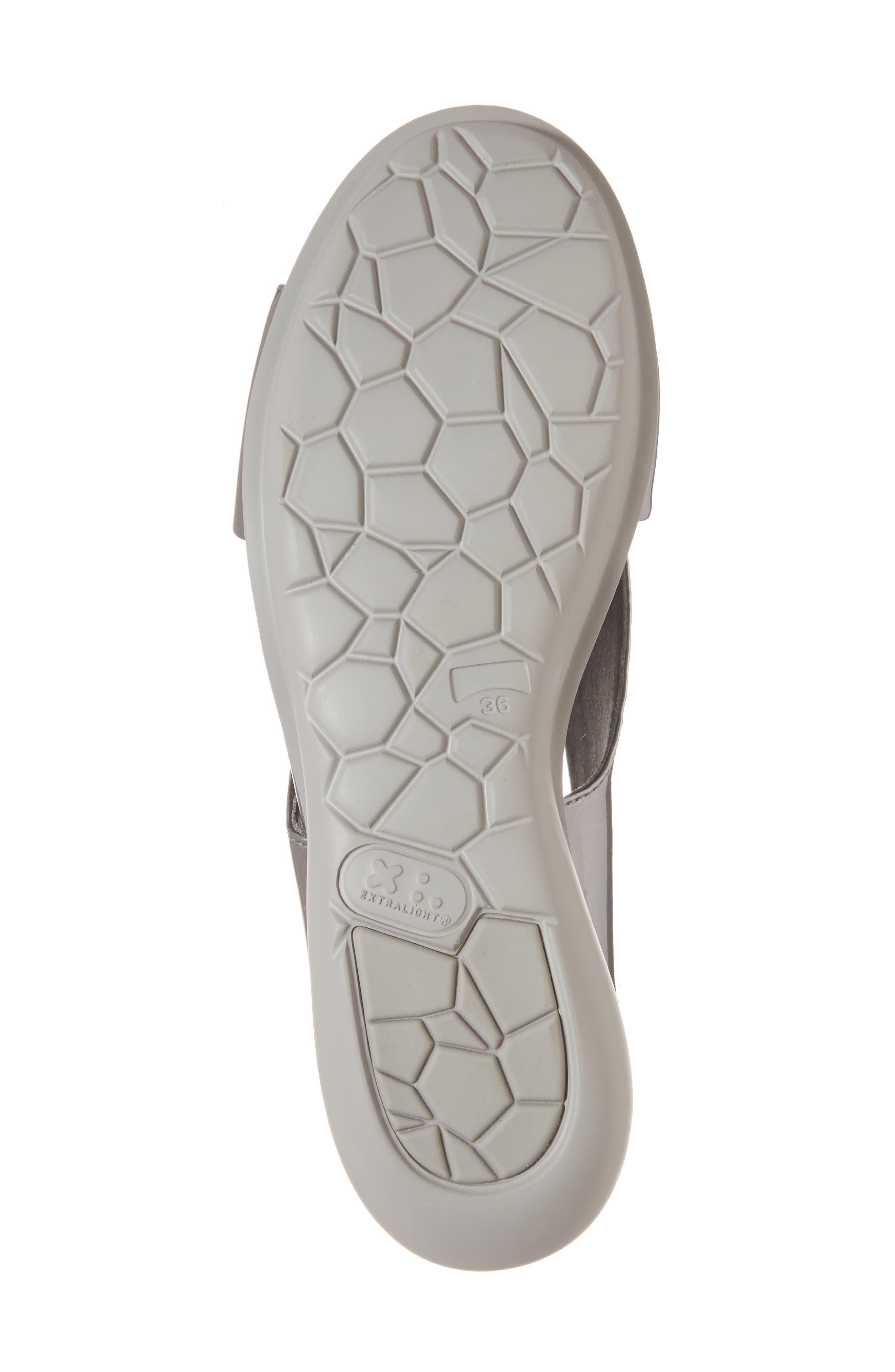 Balloon Wedge Sandal,                             Alternate thumbnail 6, color,                             Medium Gray Leather