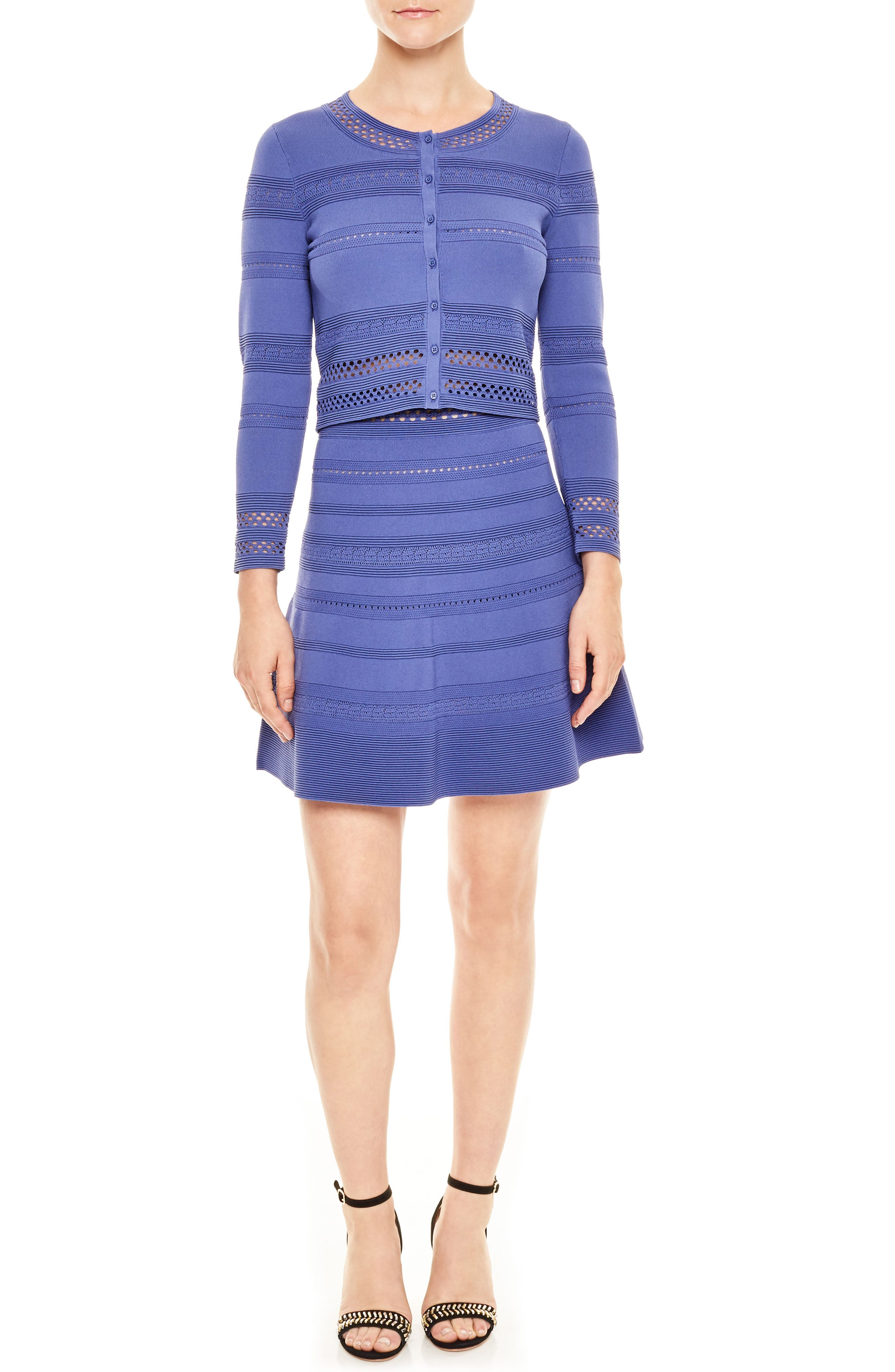 Bleu Eyelet Sweater,                         Main,                         color, Blue