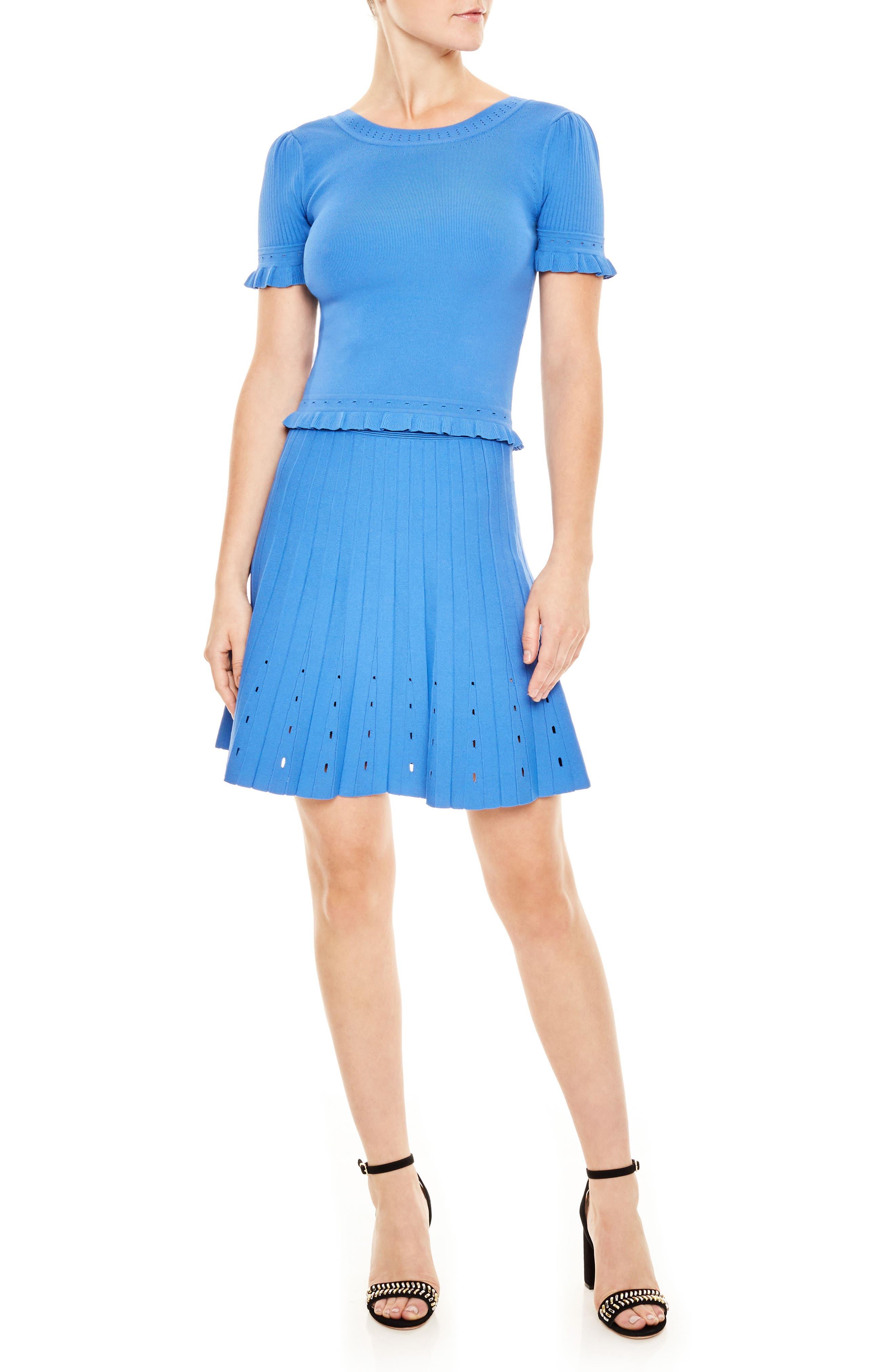 sandro Bleu Jean Knit Skirt