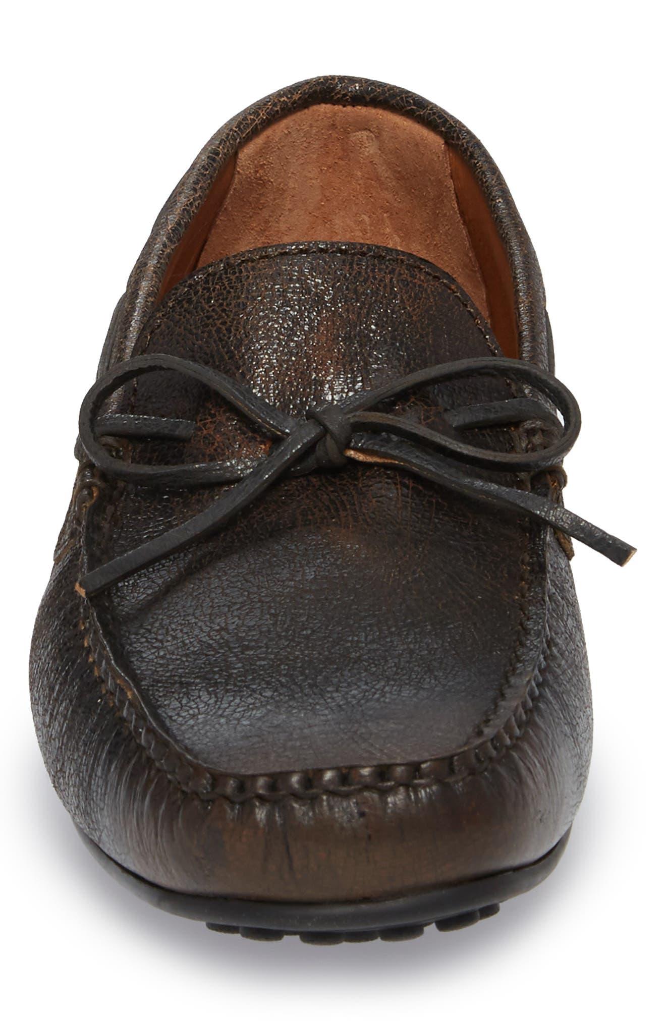Allen Loafer,                             Alternate thumbnail 4, color,                             Dark Brown Leather