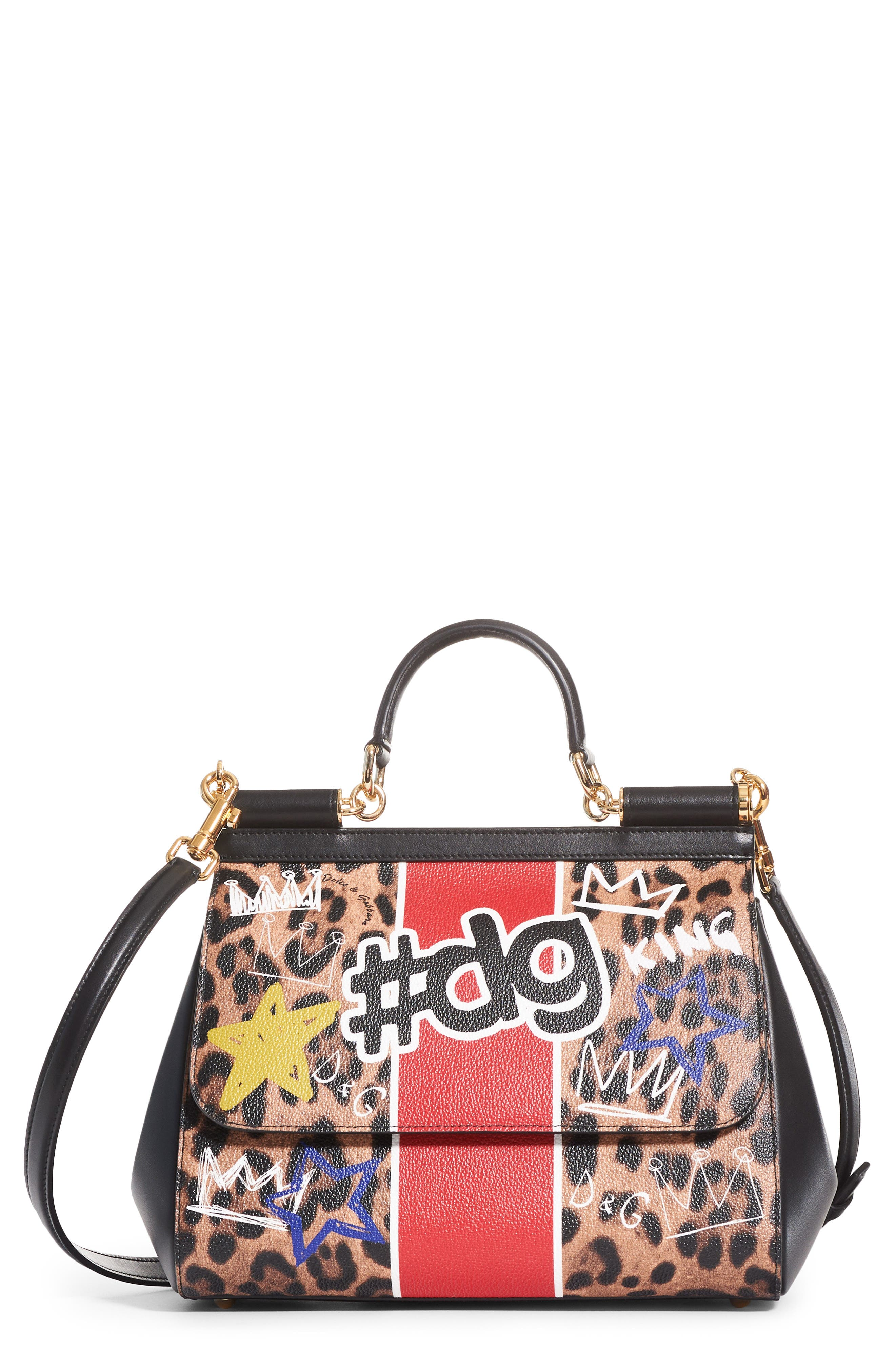 Dolce&Gabbana Large Miss Sicily Logo Faux Leather Satchel