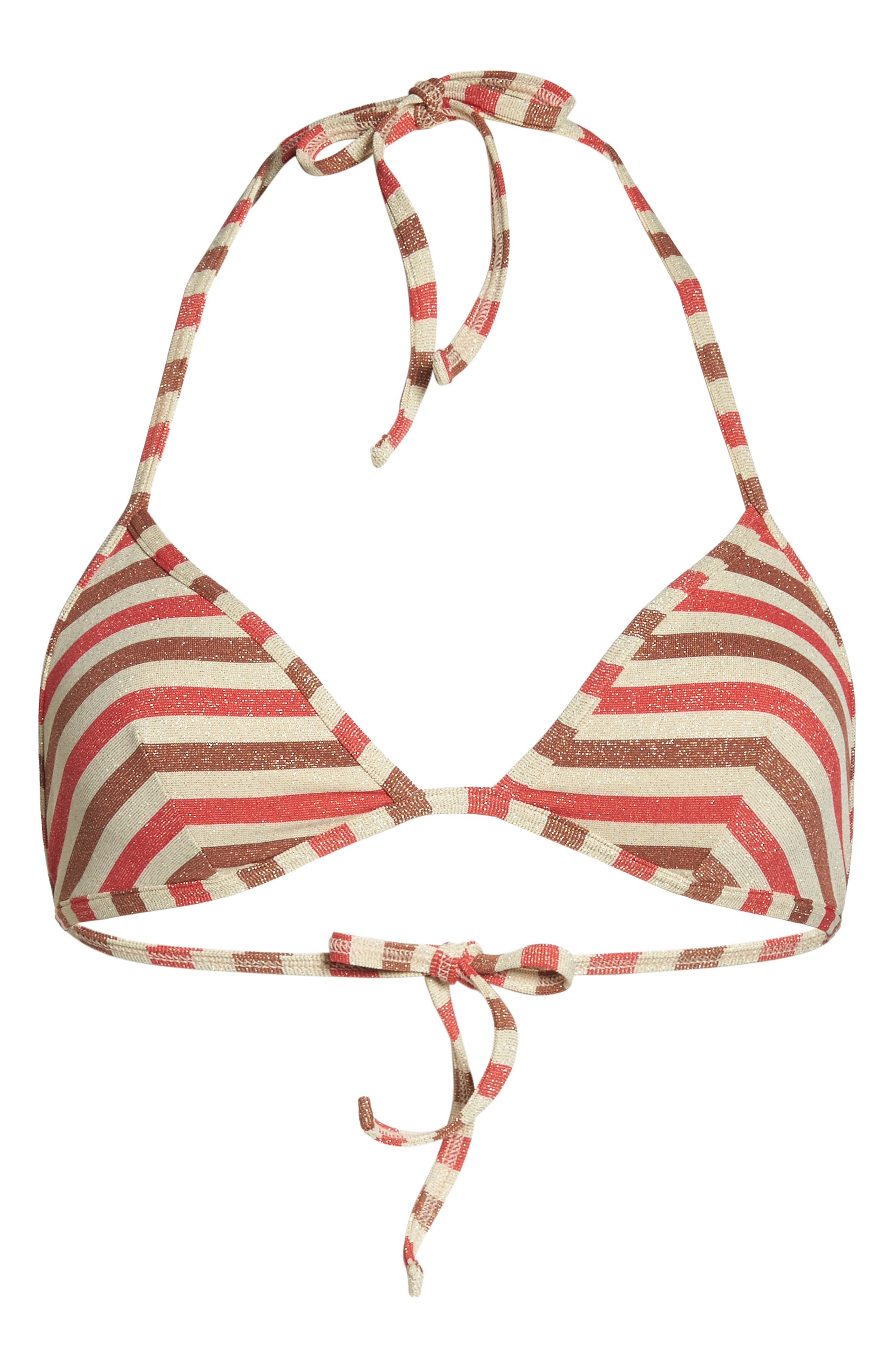 The Wendy Bikini Top,                             Alternate thumbnail 9, color,                             Red/ Brown Multi