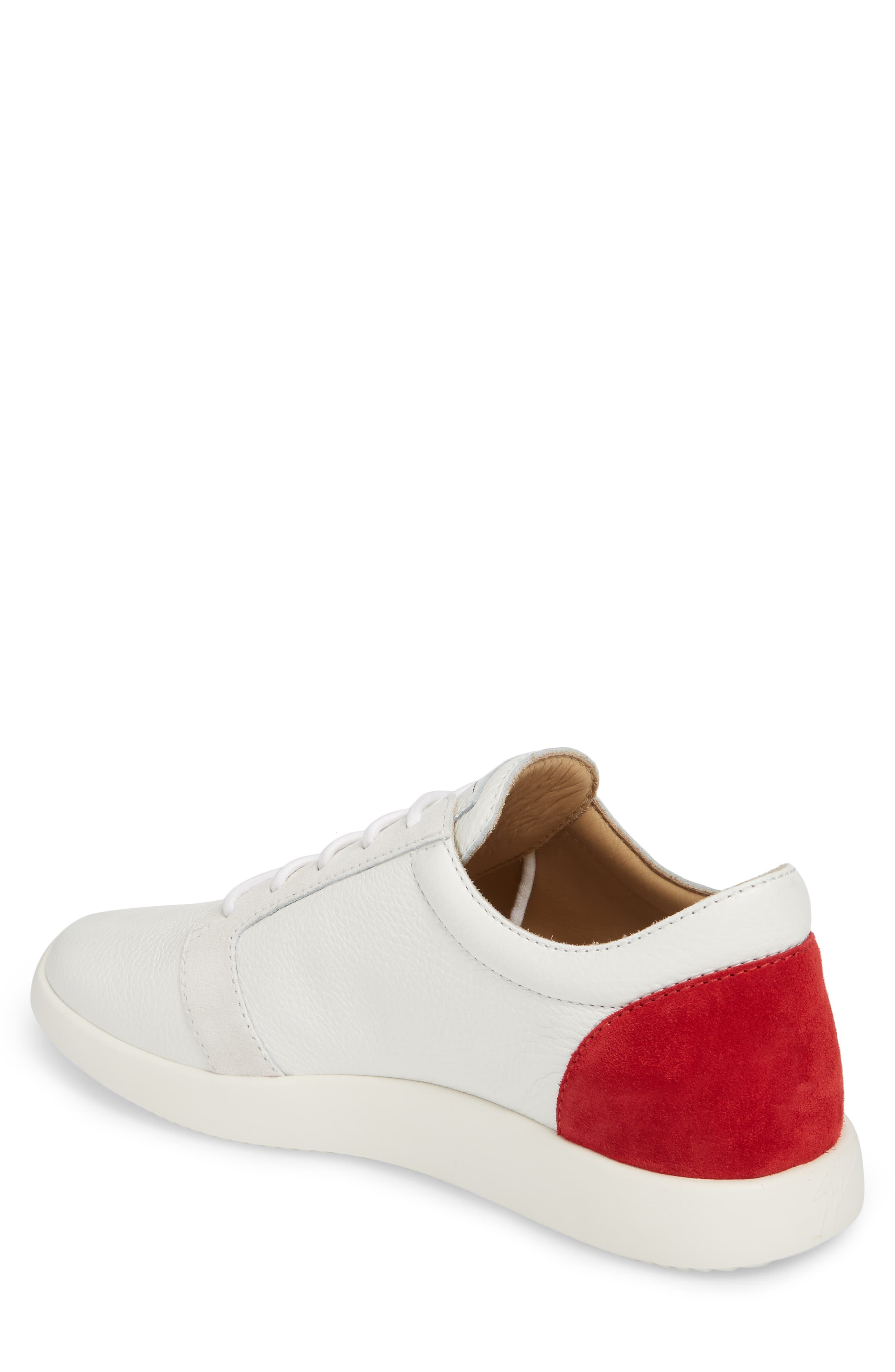 Signature Sneaker,                             Alternate thumbnail 2, color,                             White W/ Red Counter