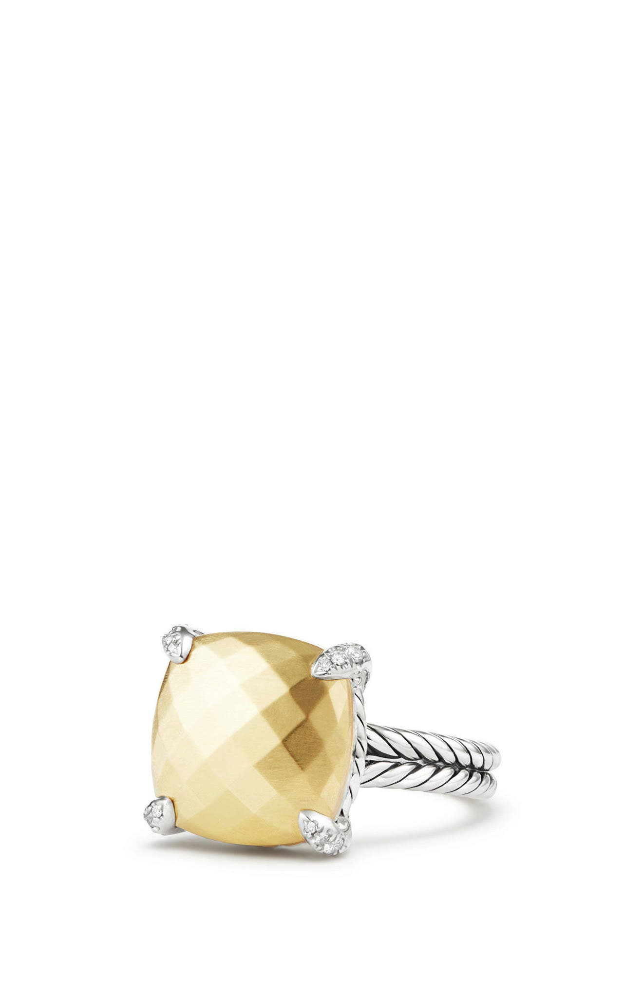 Chatelaine Ring with 18K Gold and Diamonds,                         Main,                         color, Gold Dome