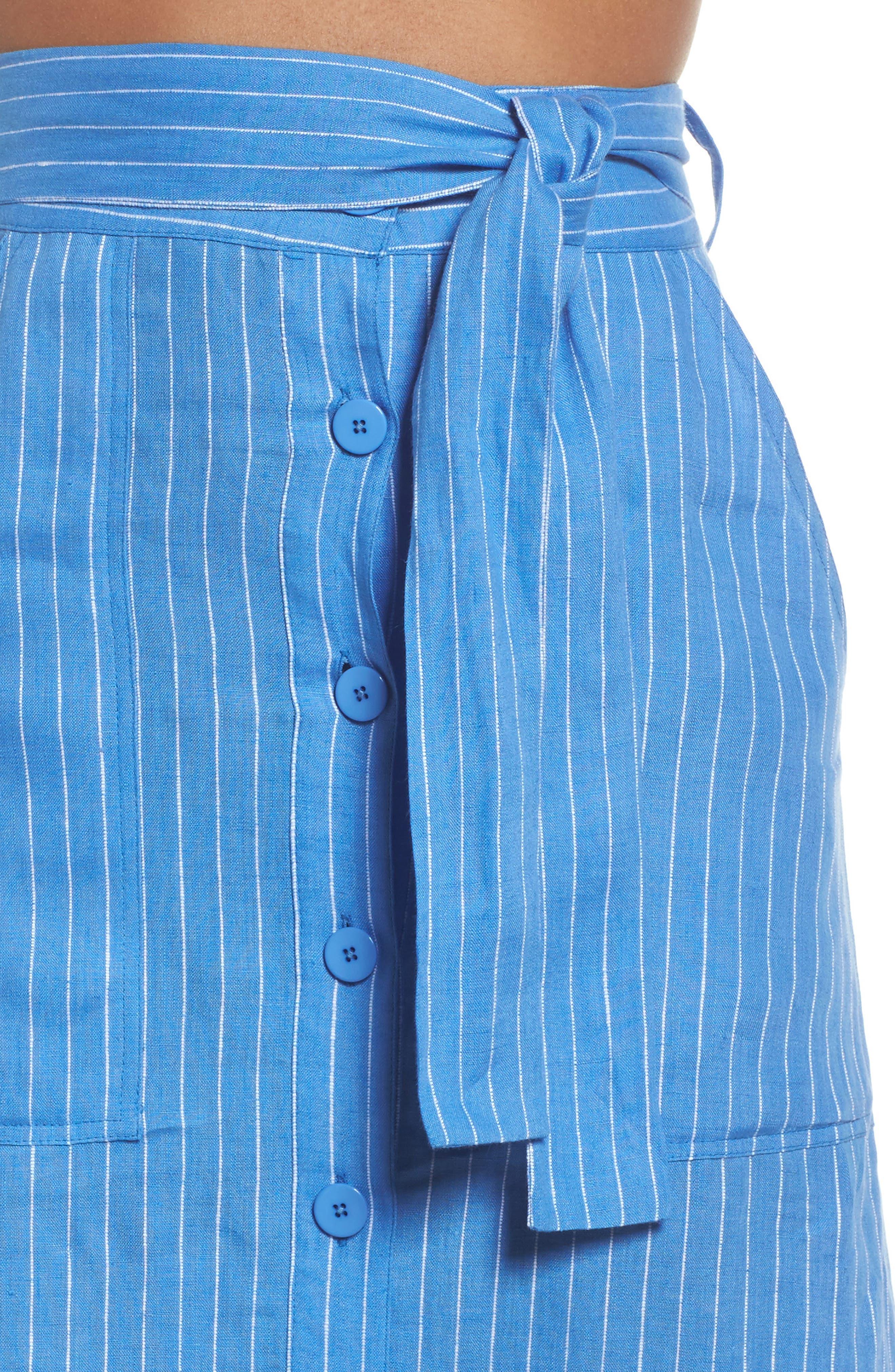 Cover-Up Skirt,                             Alternate thumbnail 4, color,                             Hydrangea/ Ivory