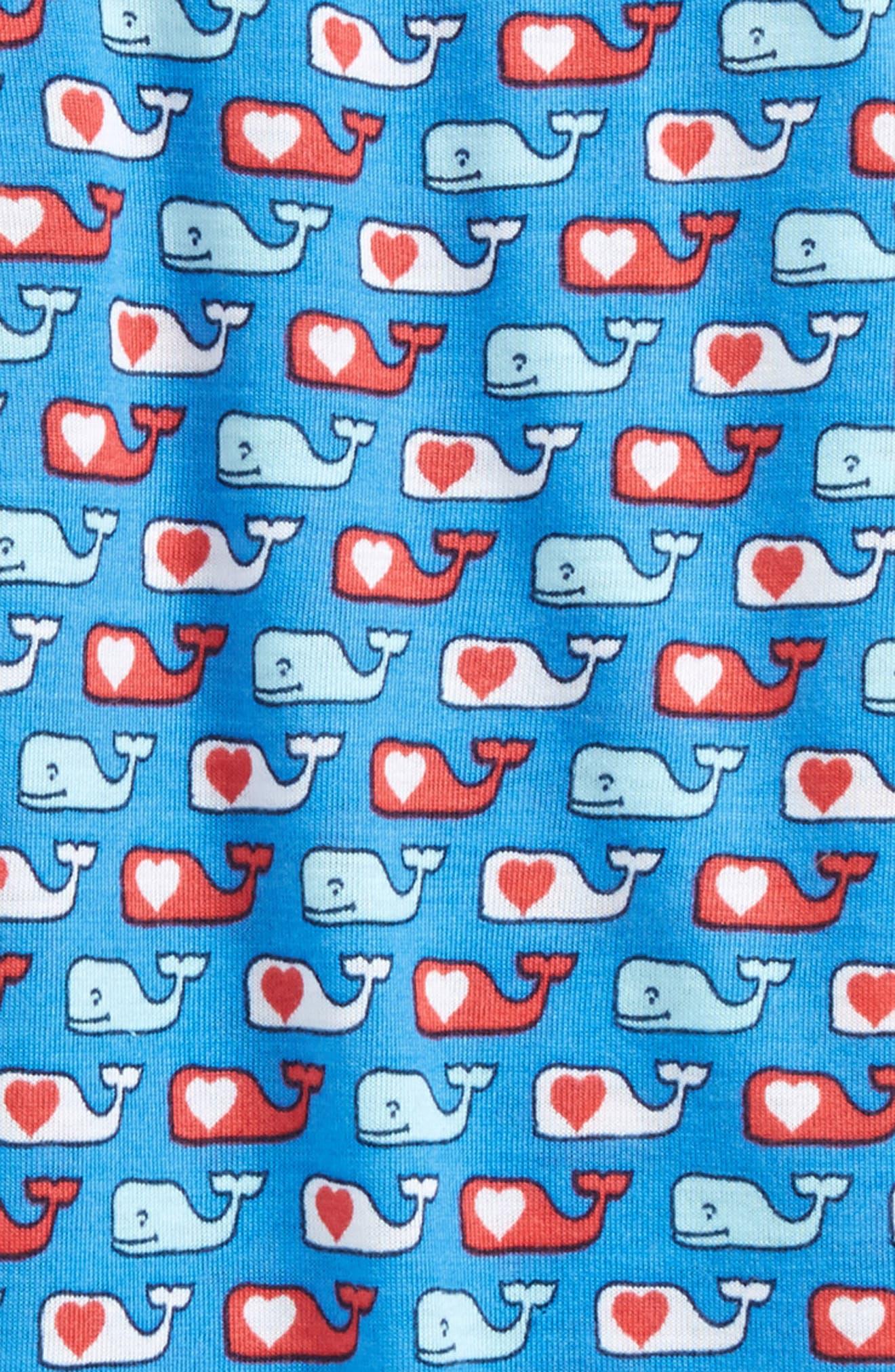 Alternate Image 2  - vineyard vines Valentine's Day Whale Lounge Pants (Toddler Boys & Little Boys)