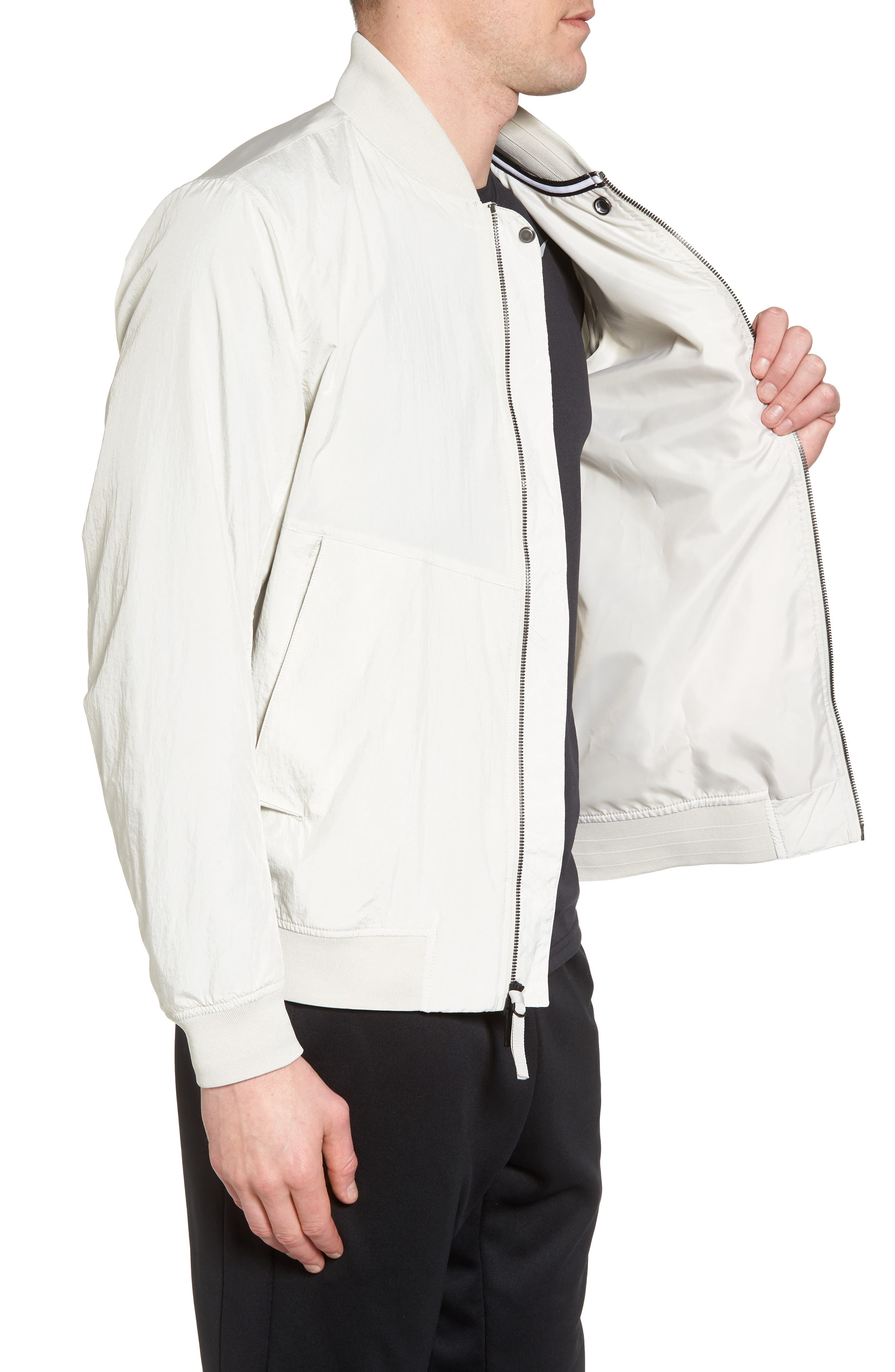 NSW Franchise Varsity Jacket,                             Alternate thumbnail 3, color,                             Light Bone/ Light Bone/ Black
