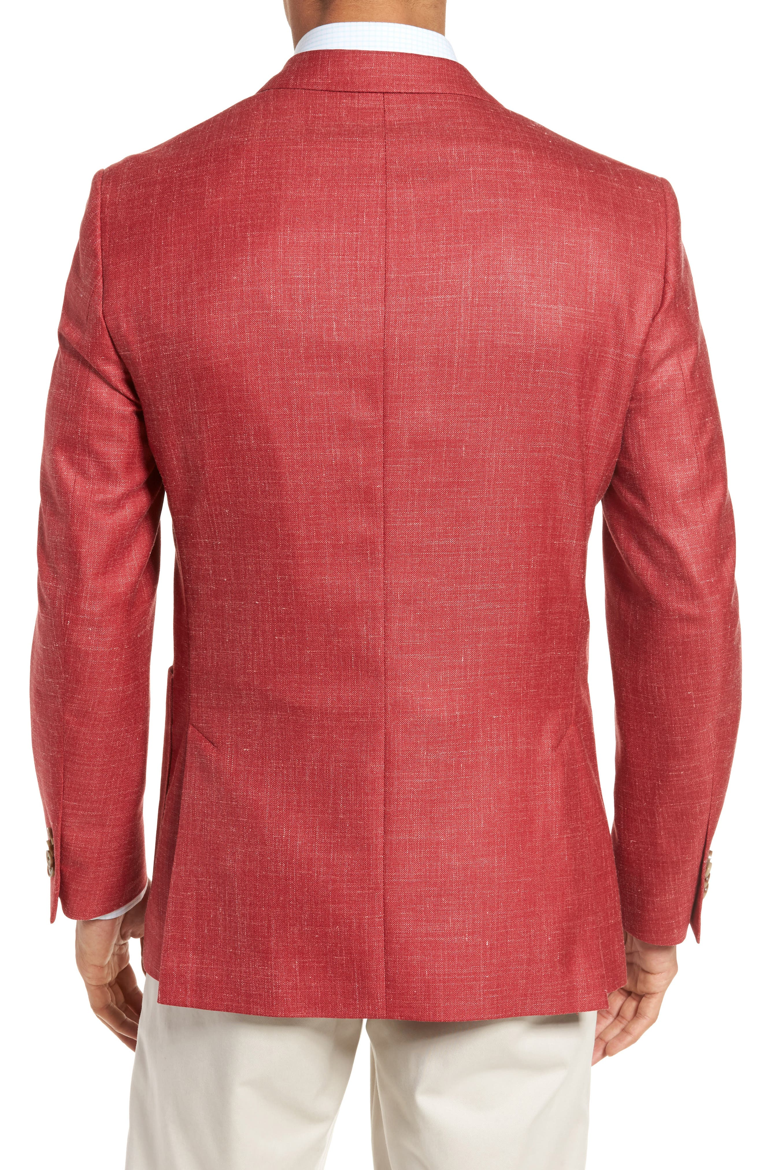 Classic Fit Wool Blend Blazer,                             Alternate thumbnail 2, color,                             Coral