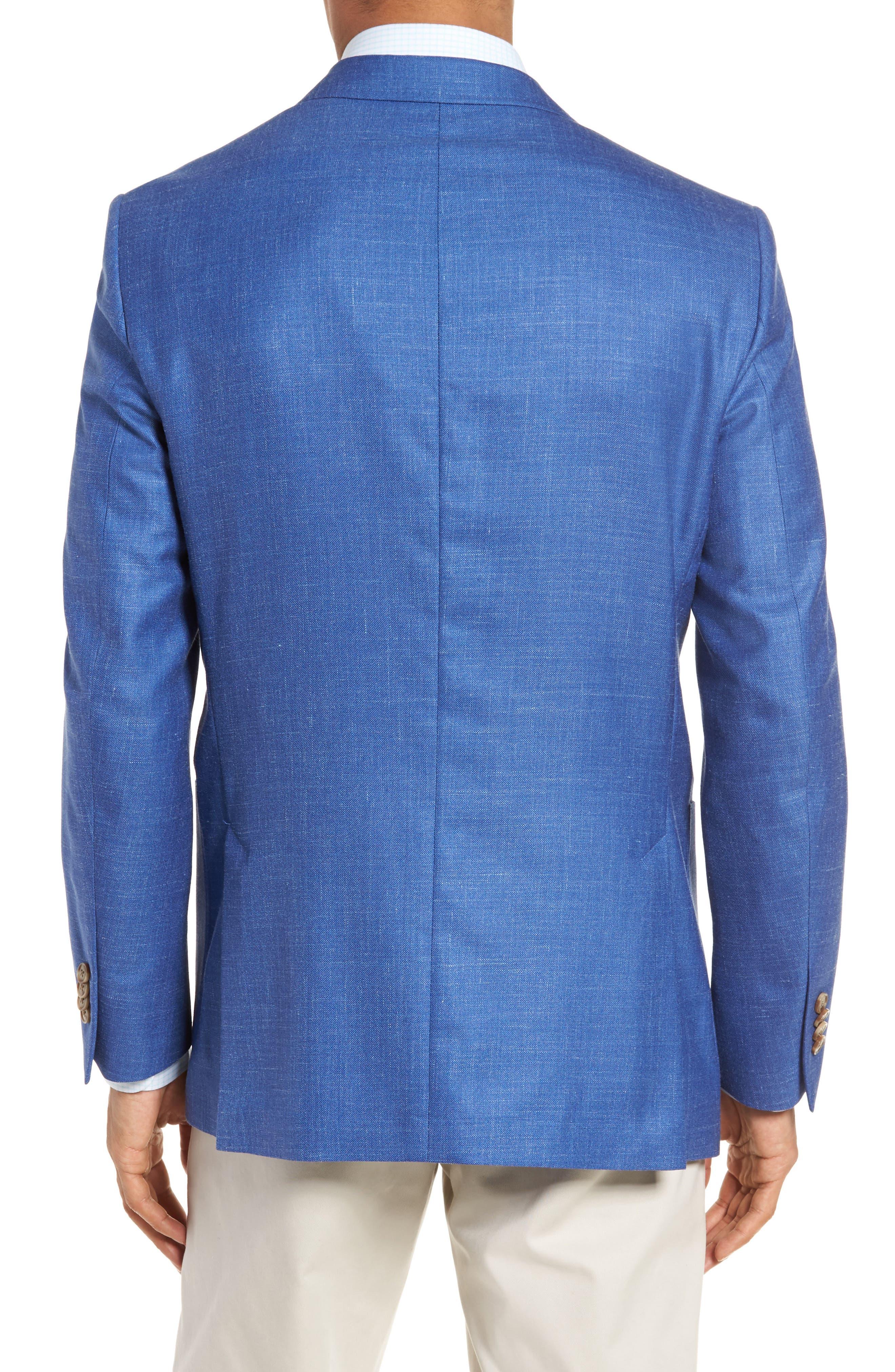 Classic Fit Wool Blend Blazer,                             Alternate thumbnail 2, color,                             Blue