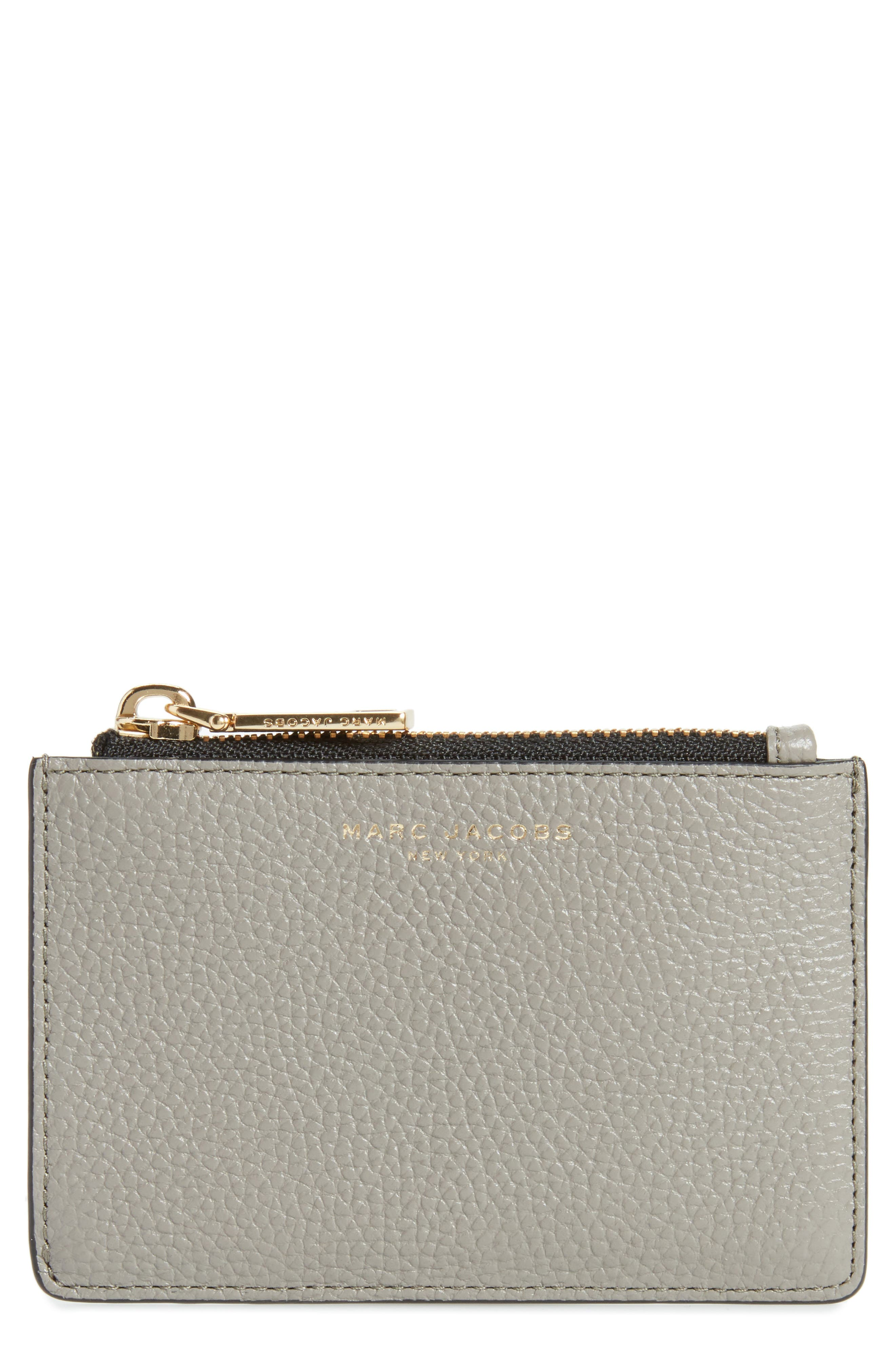 Gotham Leather Wallet,                         Main,                         color, Stone Grey