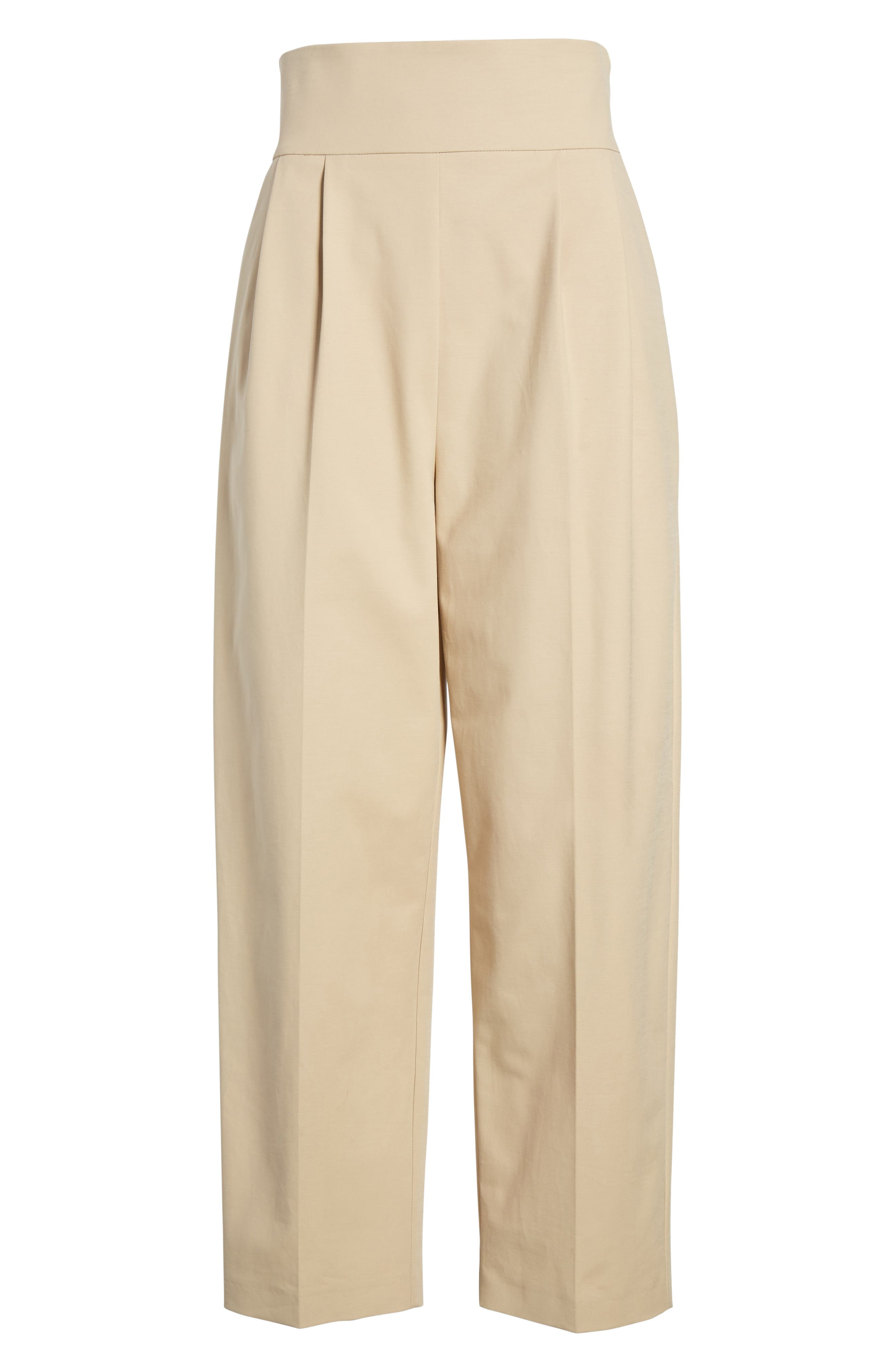 Lace Back Trousers,                             Alternate thumbnail 6, color,                             Camel