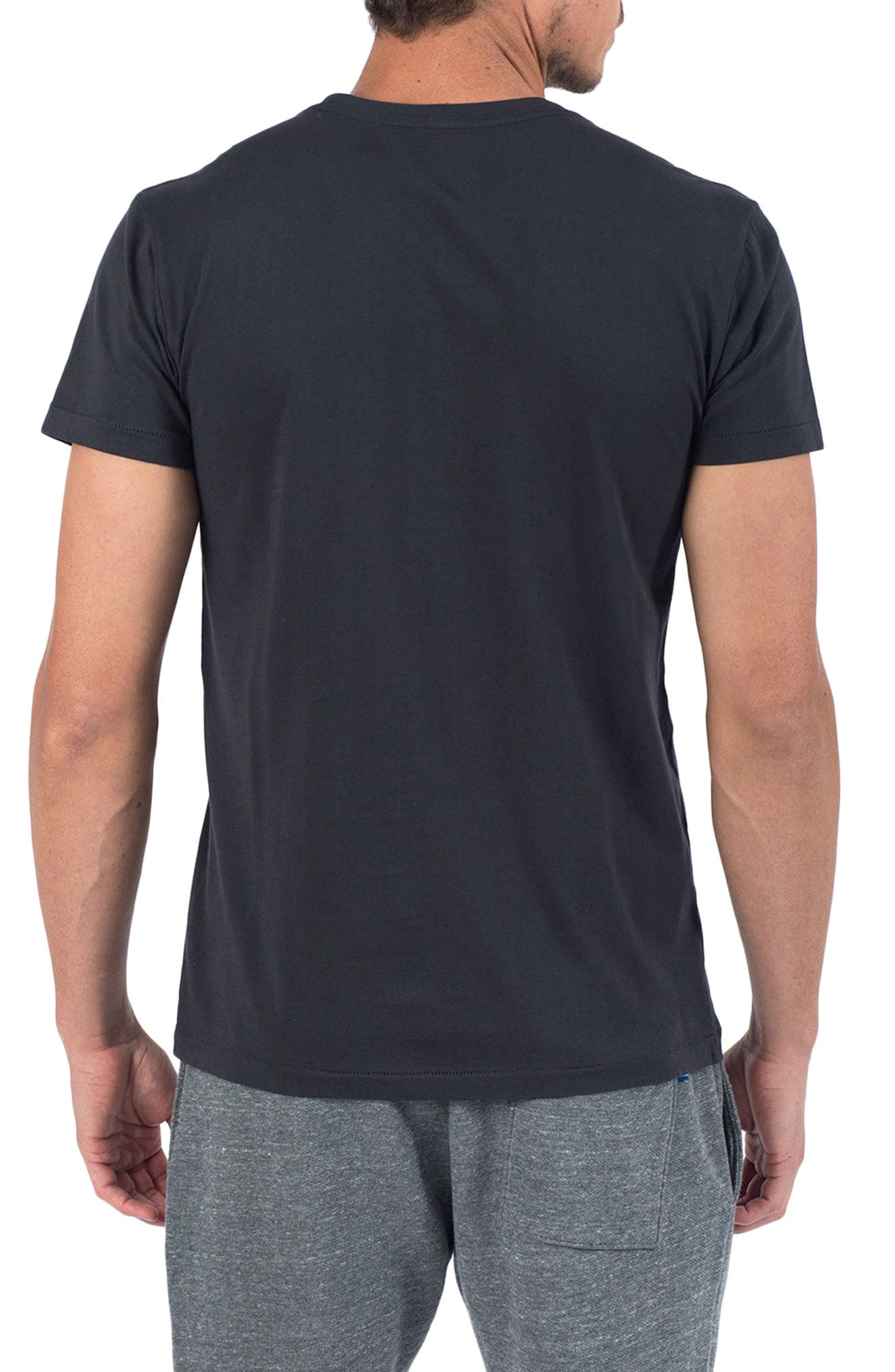 Window to The Wall T-Shirt,                             Alternate thumbnail 2, color,                             V Black