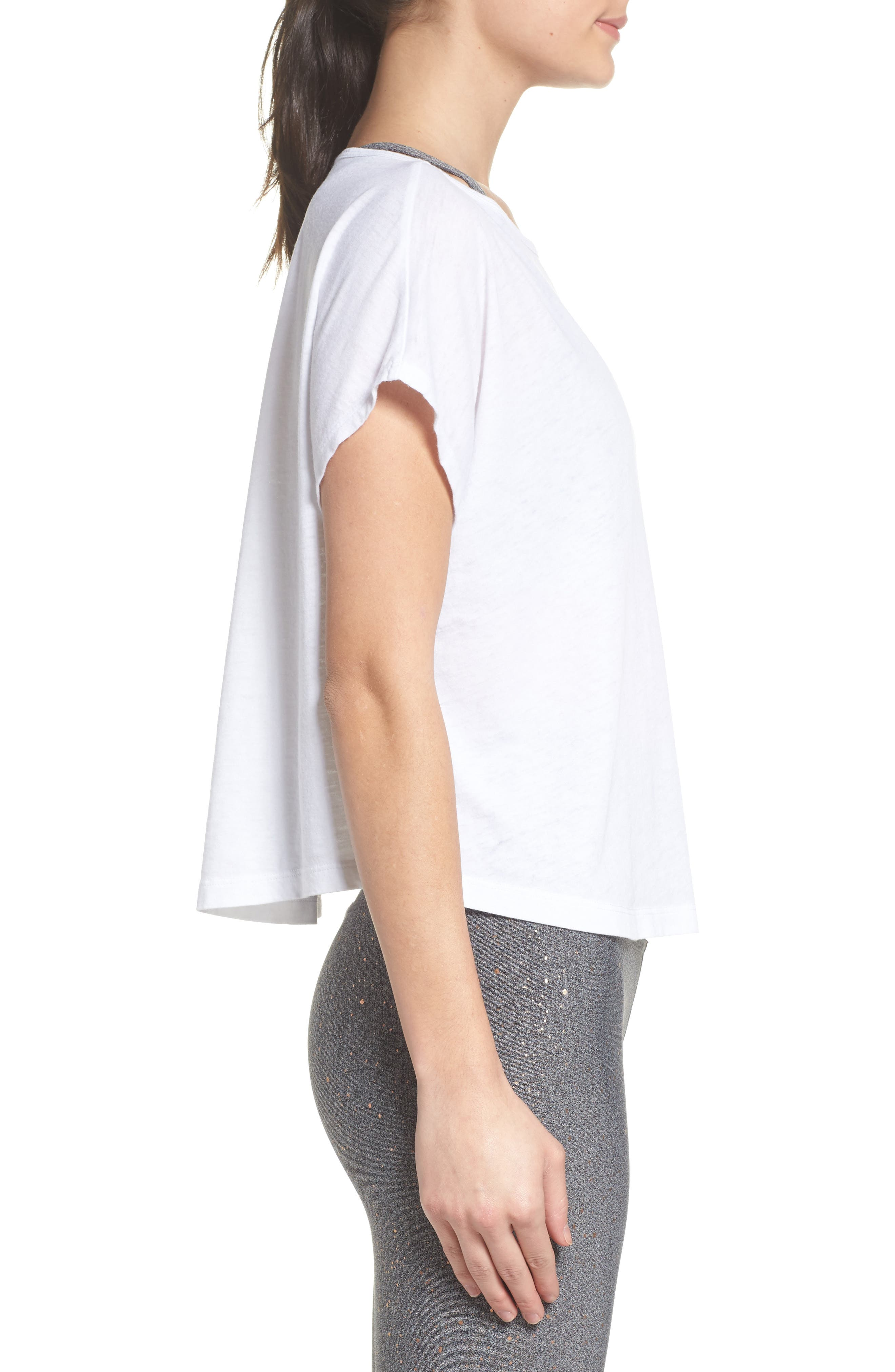 Perfect Layer Tee,                             Alternate thumbnail 3, color,                             White