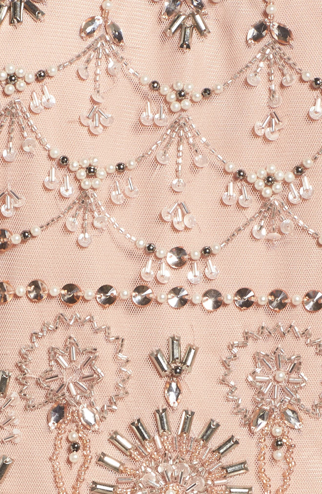 Embellished Tiered Maxi Dress,                             Alternate thumbnail 5, color,                             Blush